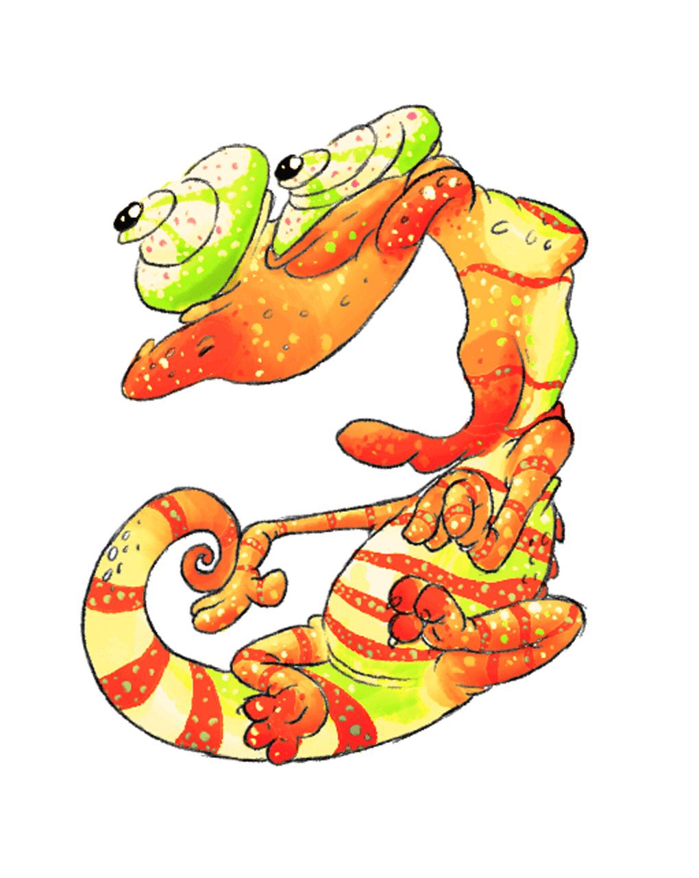 Fruit Smoothie Chameleon