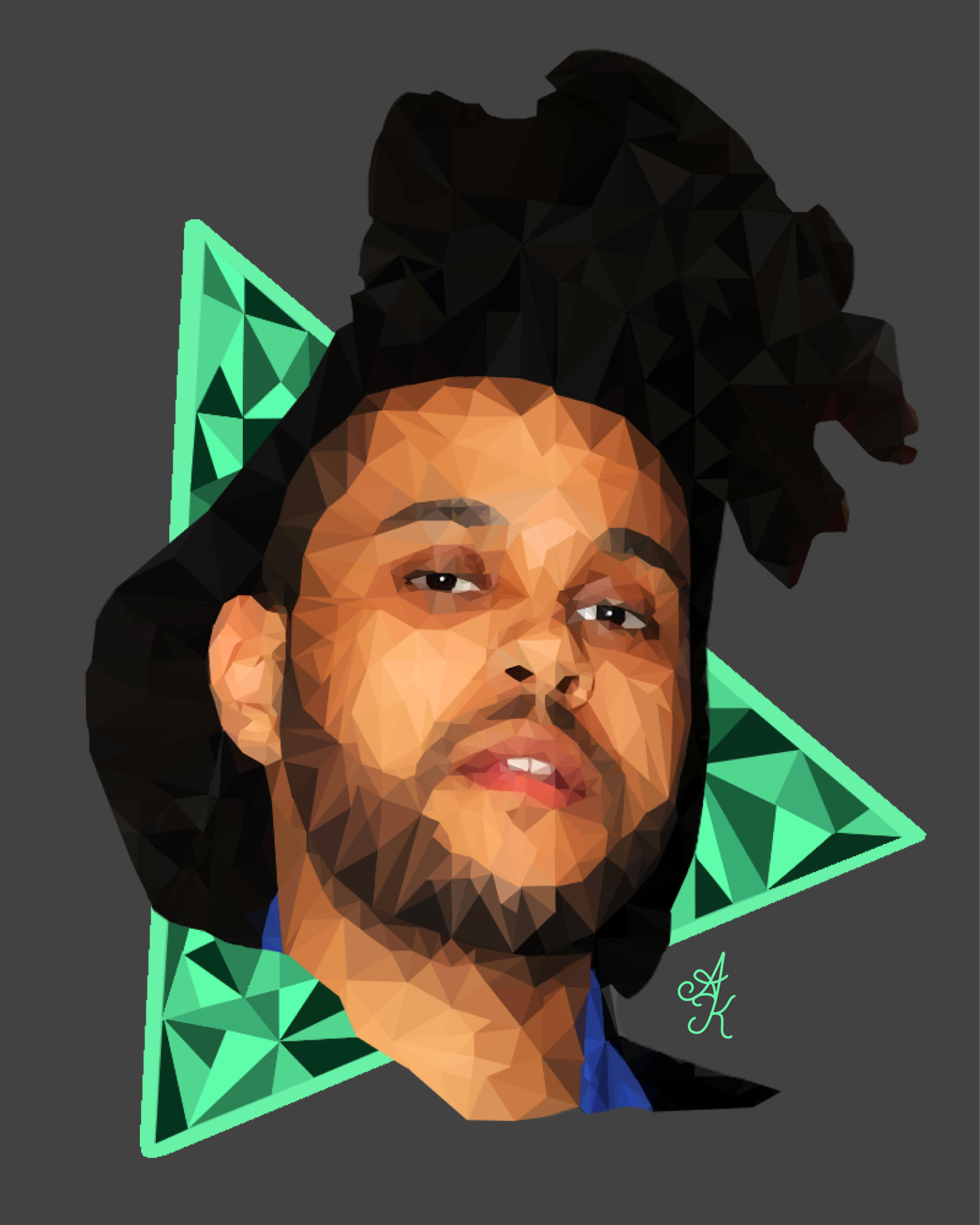 The Weeknd Poly Art