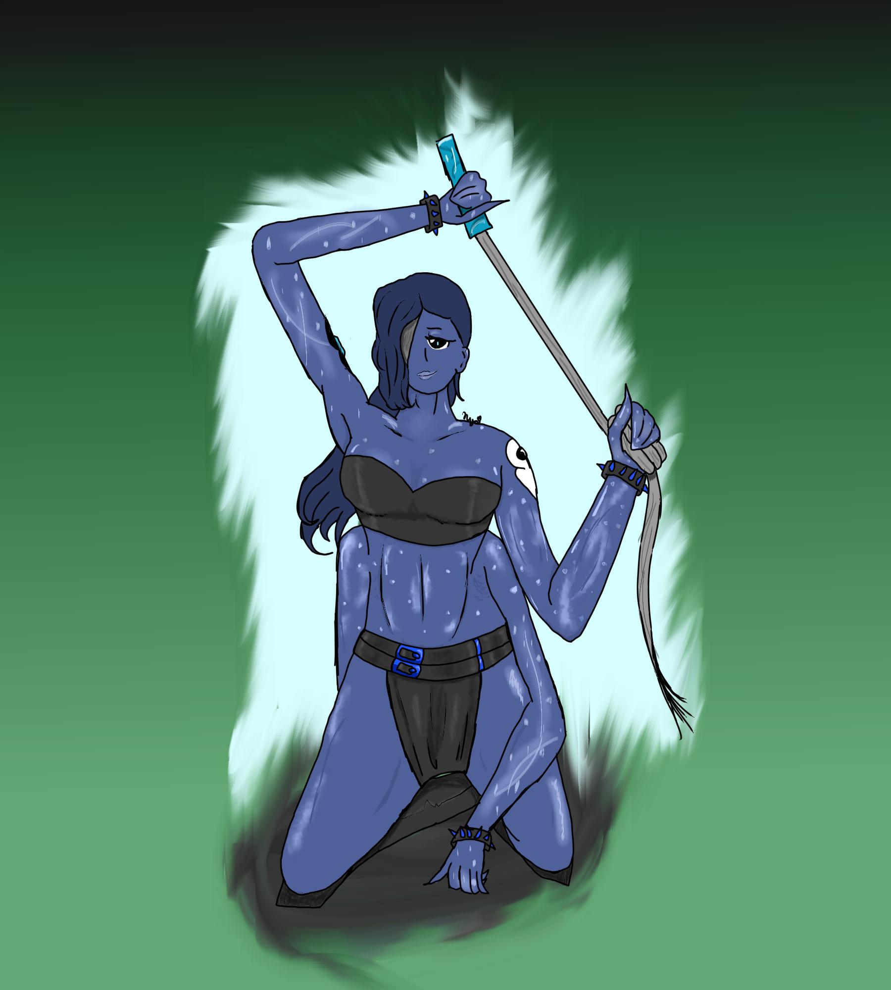 Tourmaline (Aqua and Onyx Fusion)