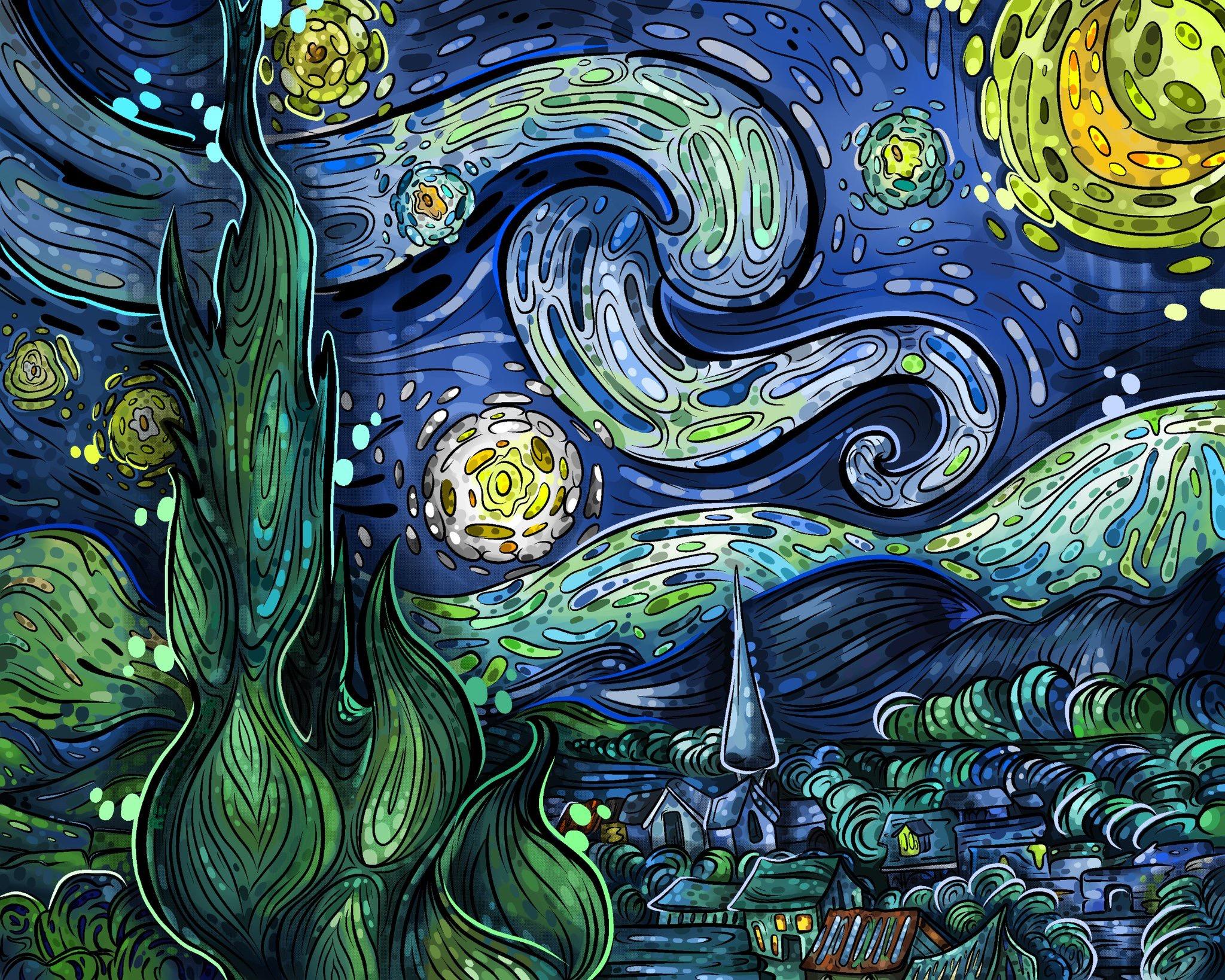 Starry Night Study