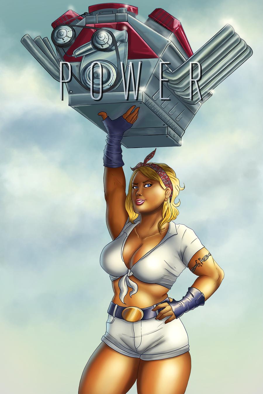 Powergirl Pin-up