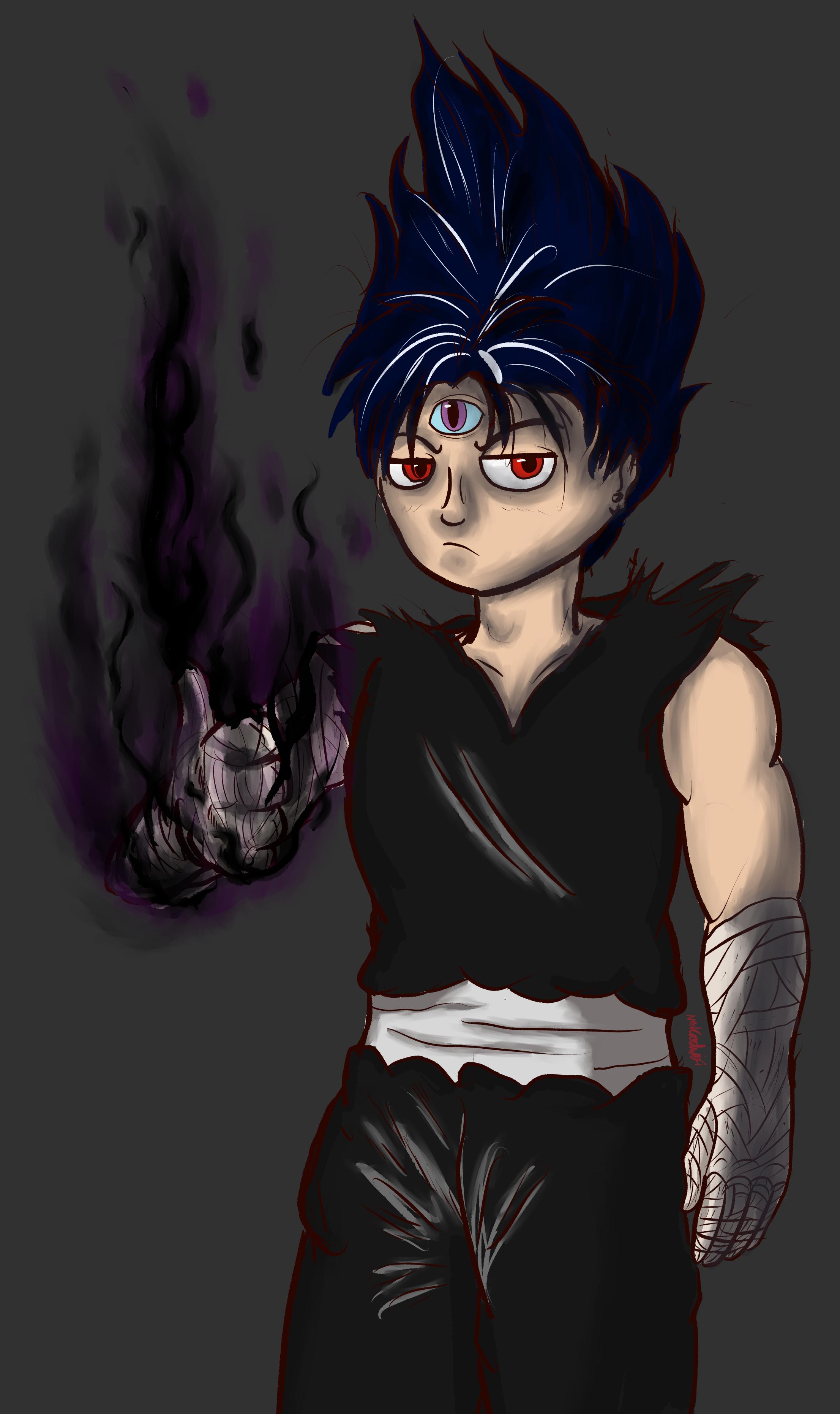 Edgy black fire