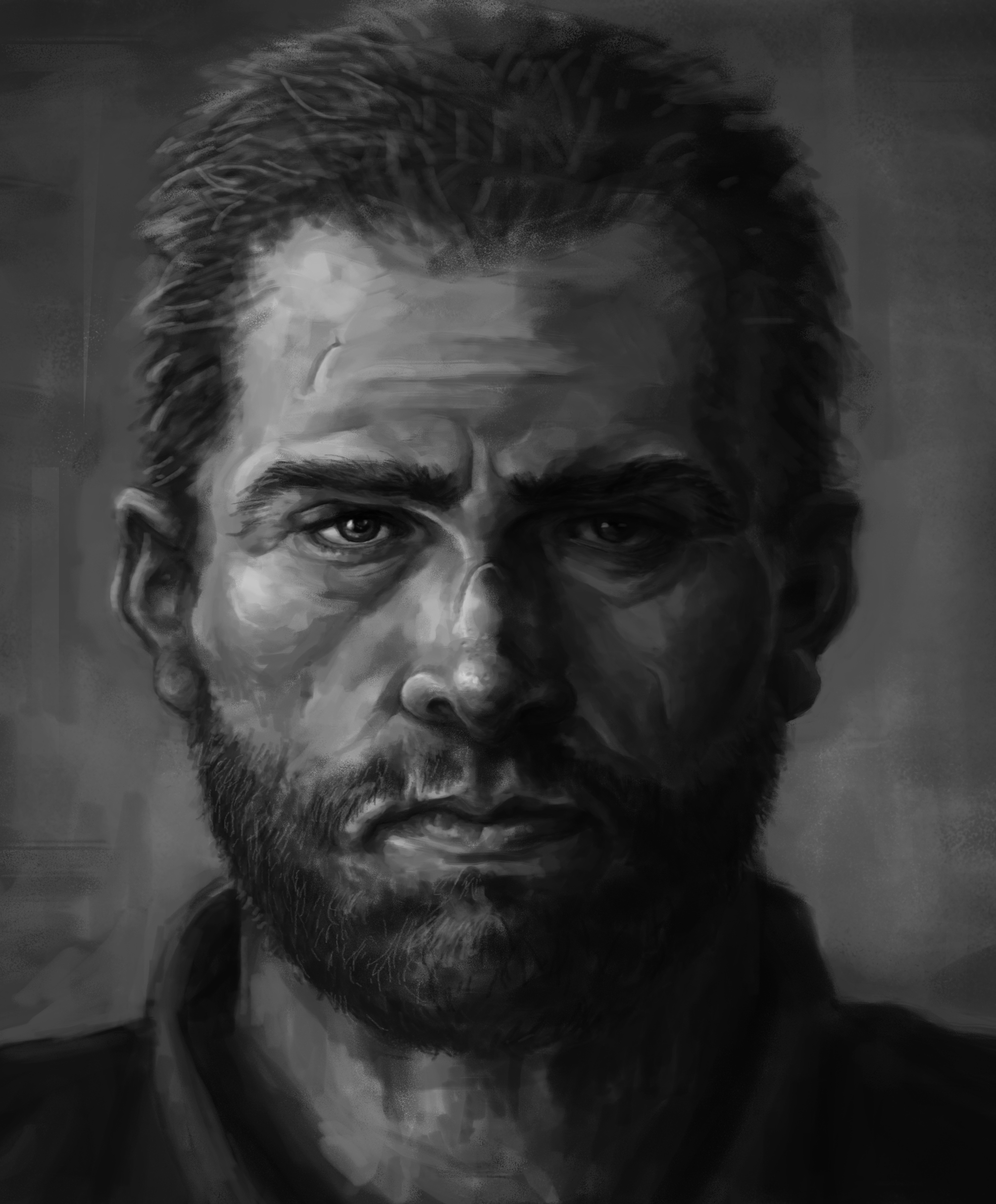 Attempt at realistic face