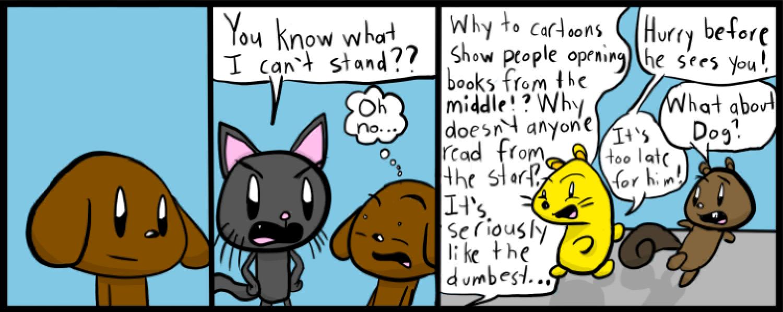 Comic Cat: Books