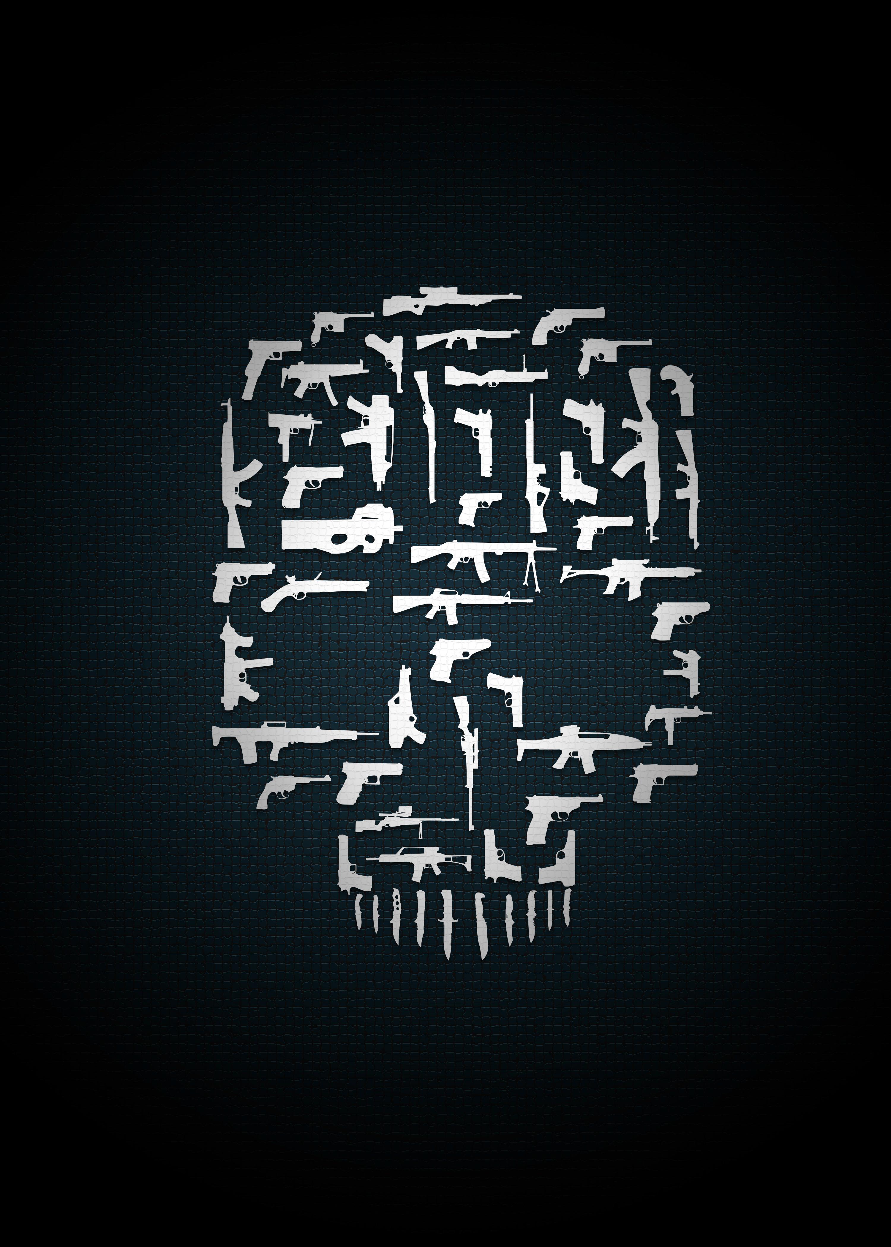 Cliche Skull of Guns