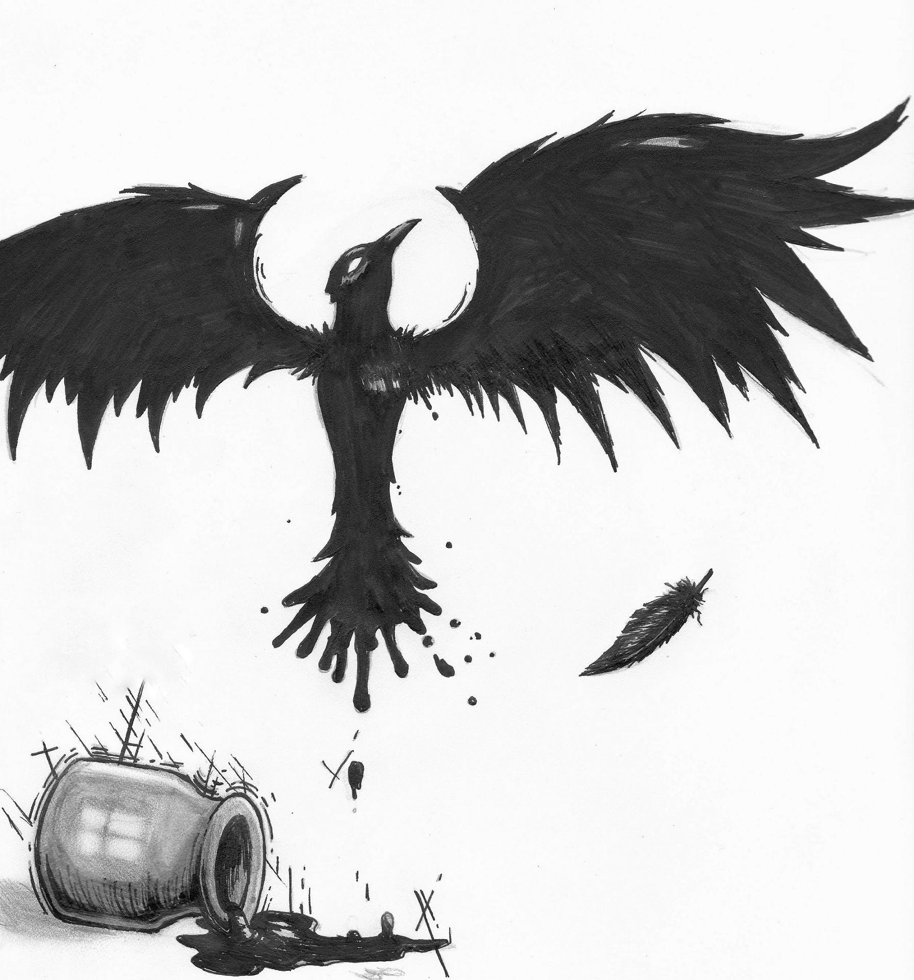 Fallen Ink Raven