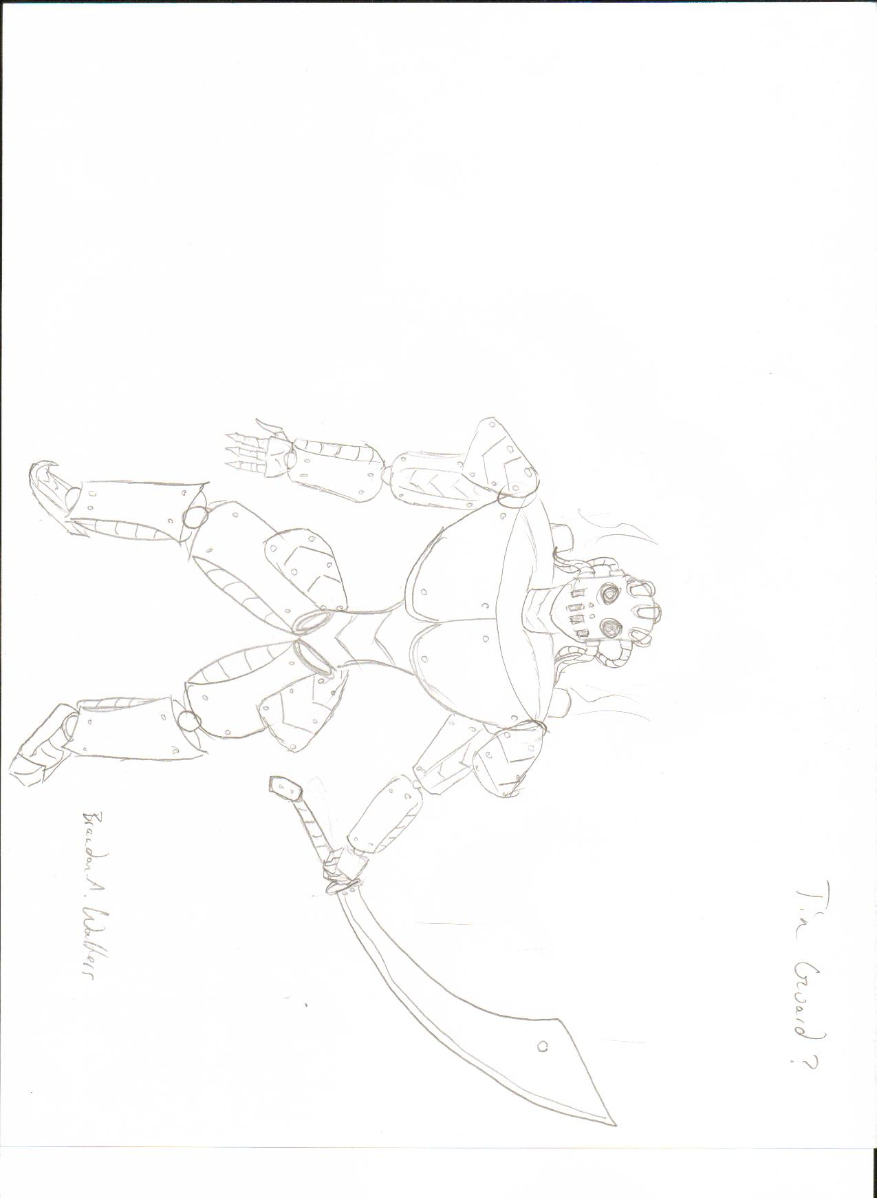 The tin guard sketch