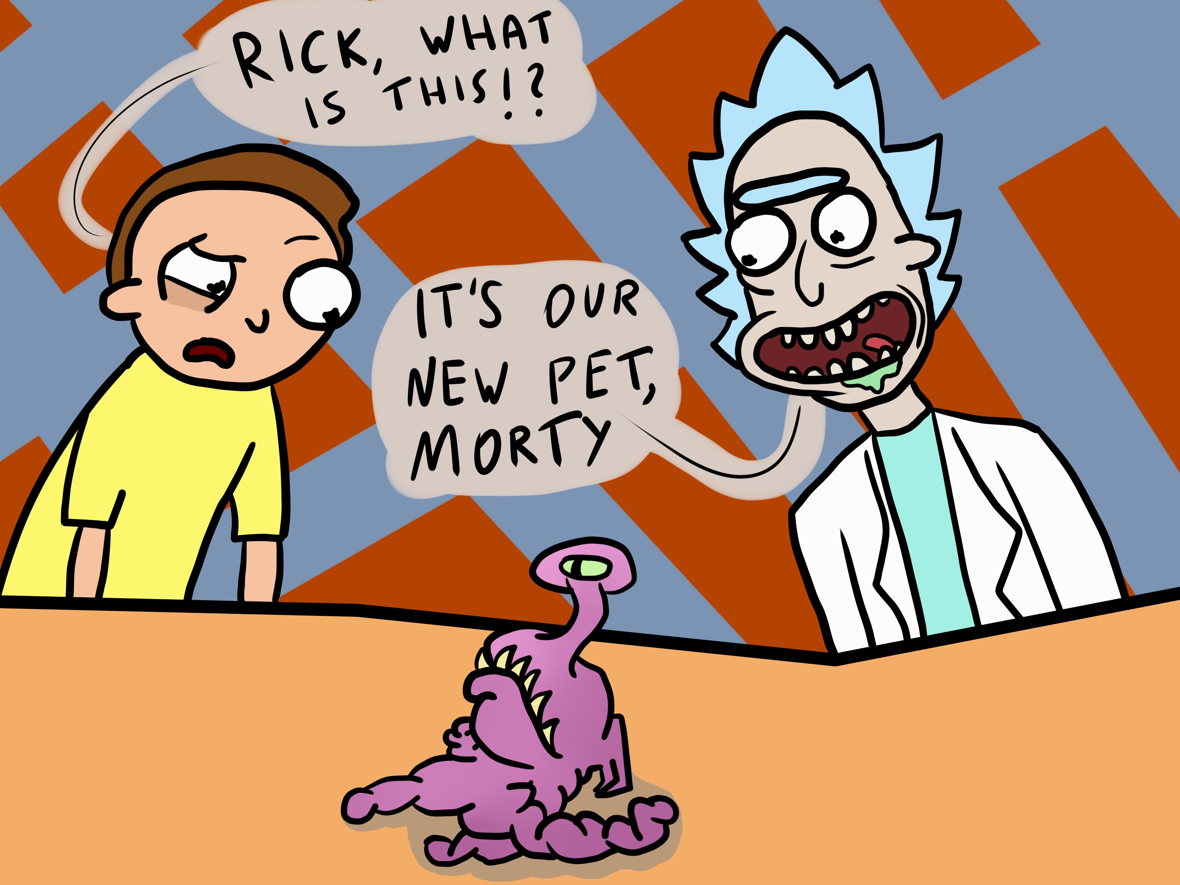Rick's new pet