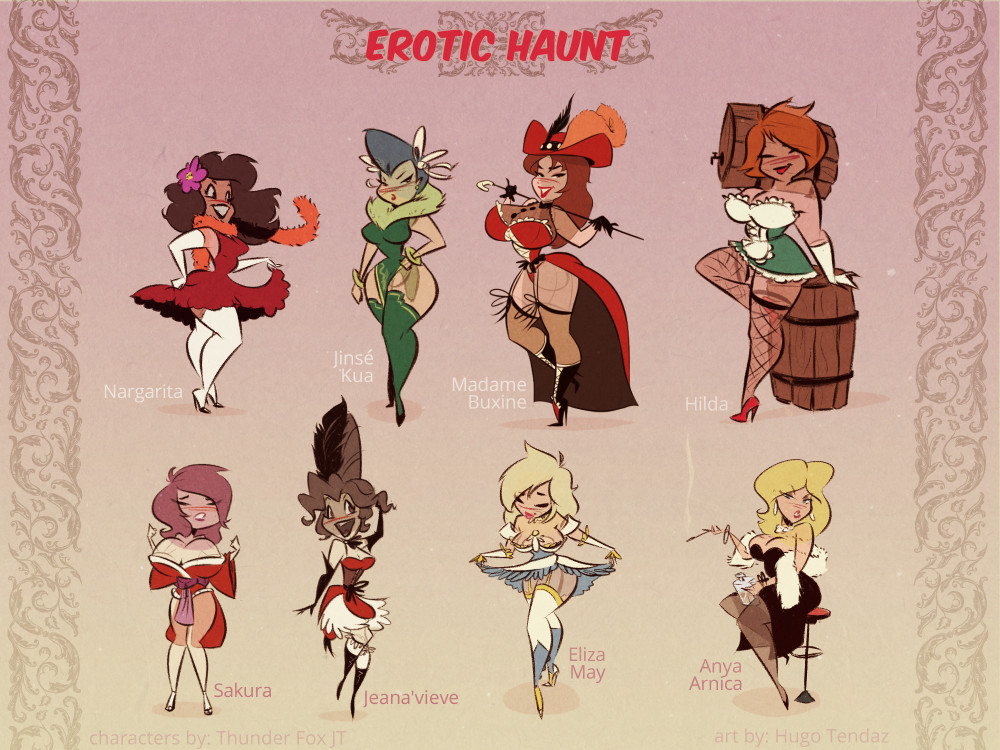 Erotic Haunt - Ghost Girls Line Up - Comic Concept Commission
