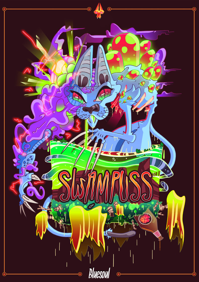 Swampuss band poster