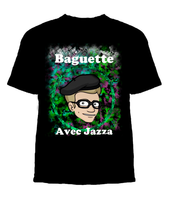 Baguette Avec Jazza on T-Shirt