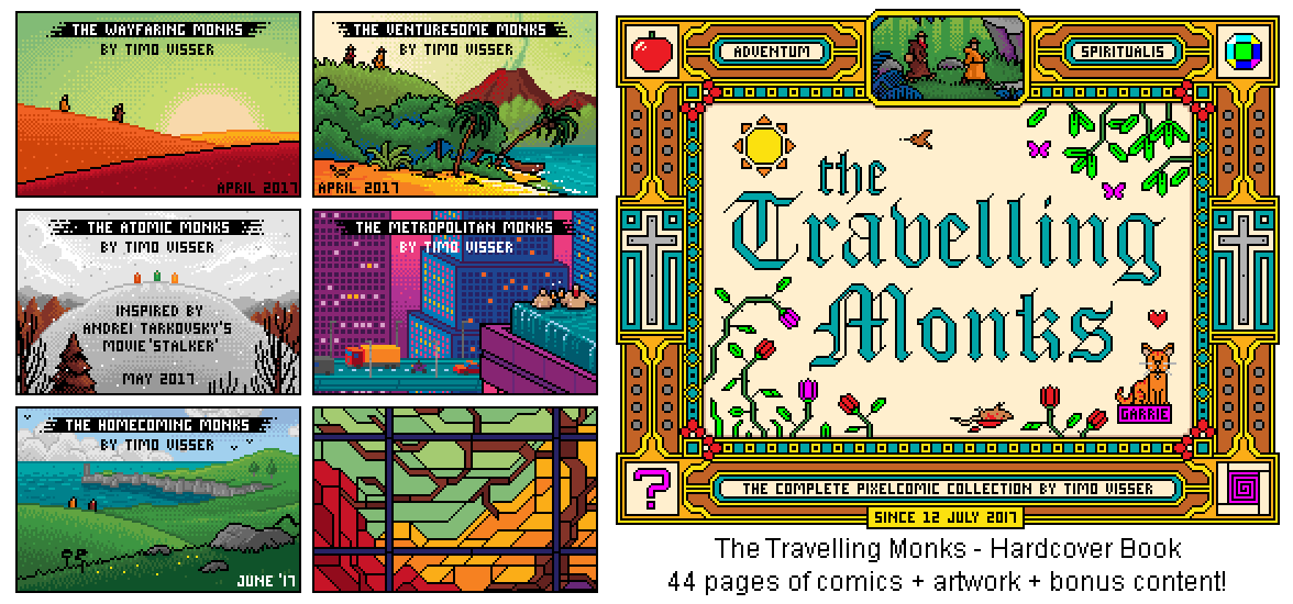 The Travelling Monks -Book Cover-
