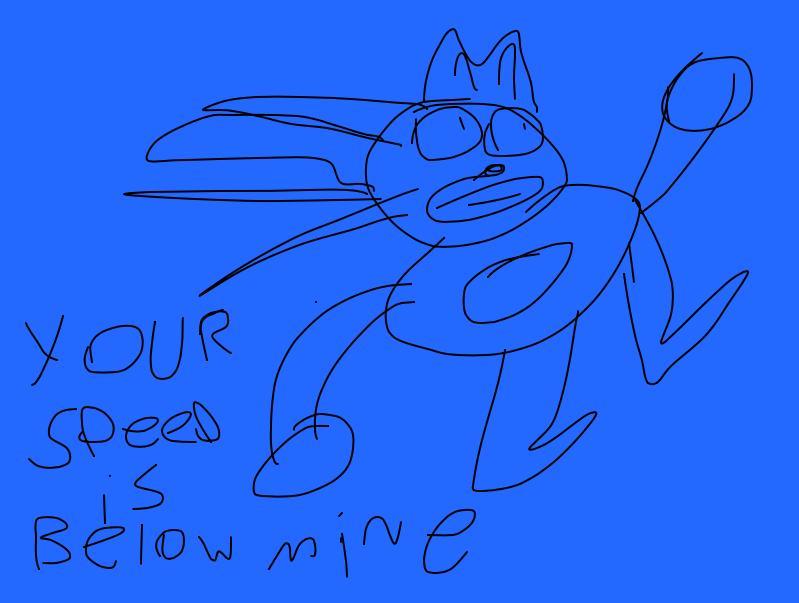 My drawing of Sanic