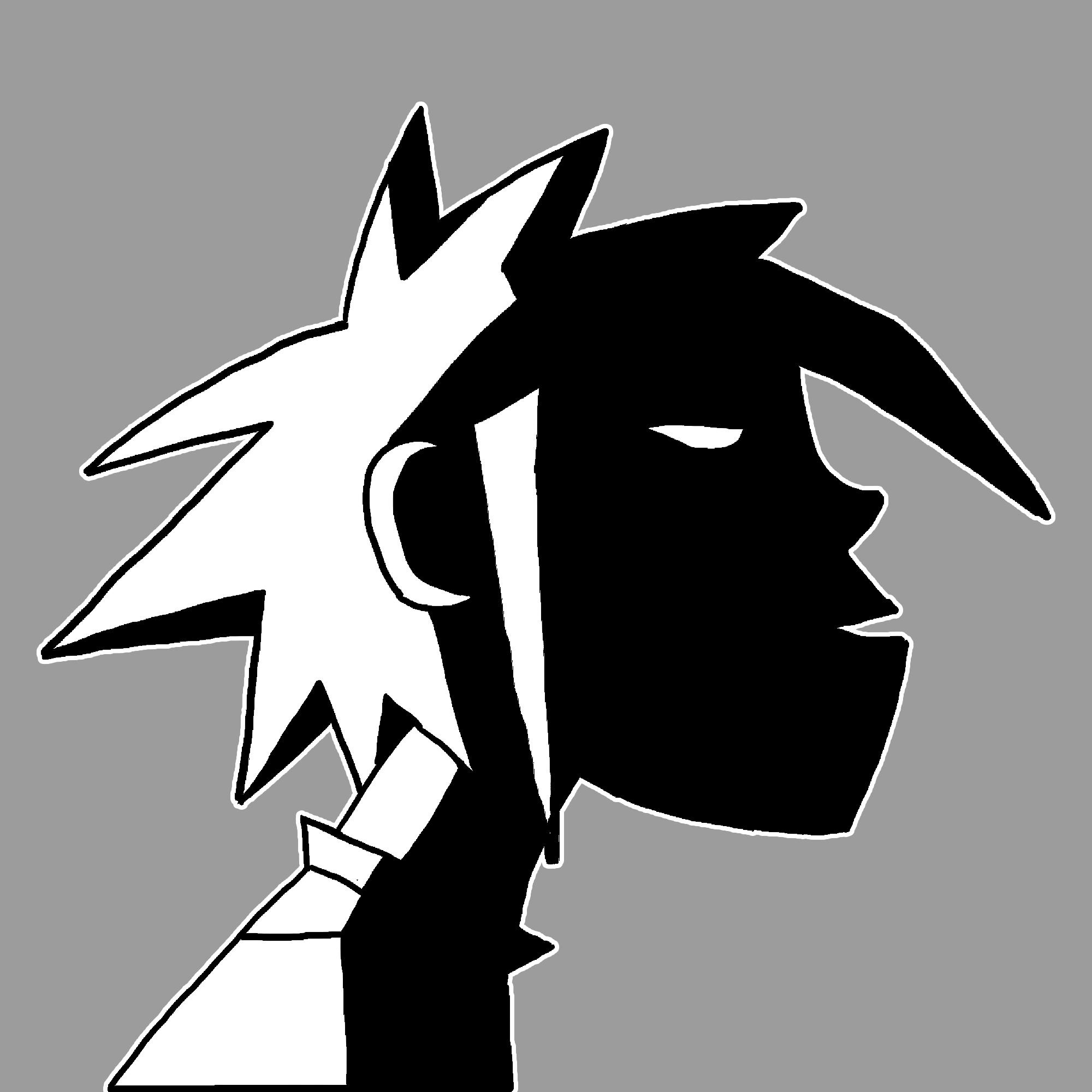 Black & White 2-D Fan art