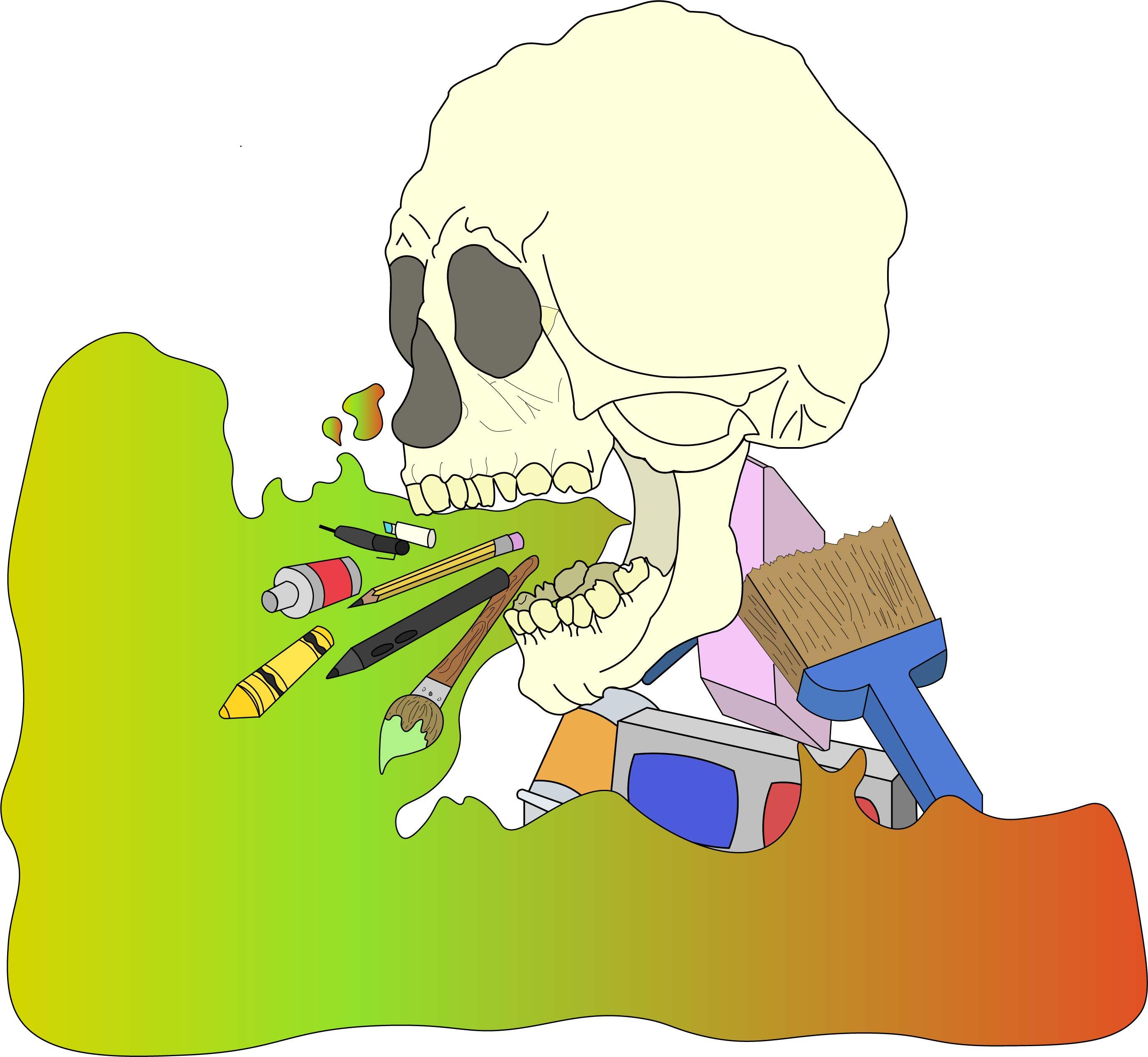 Artistic Skull Design