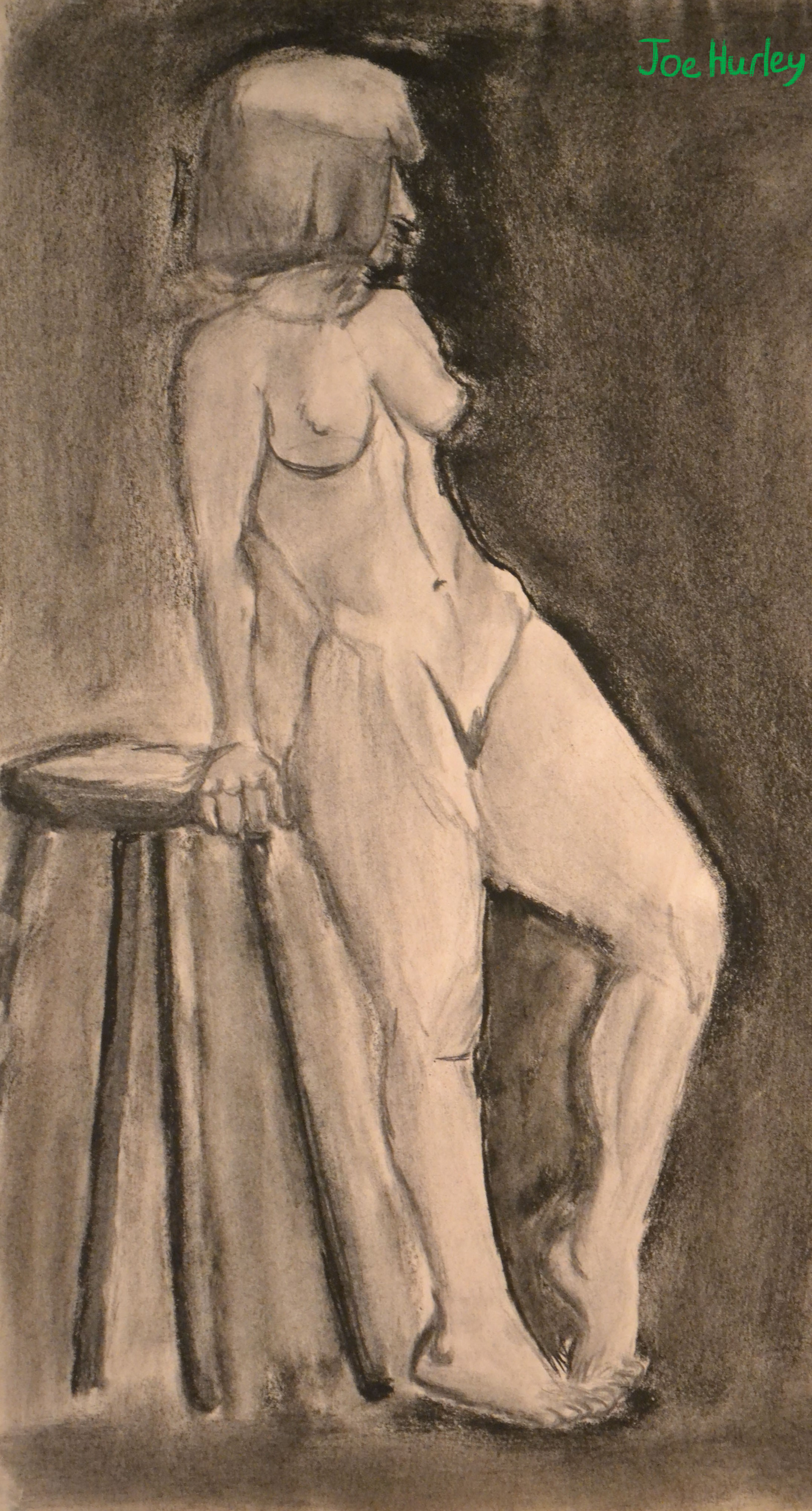 Charcoal Figure Drawing (July 25th)