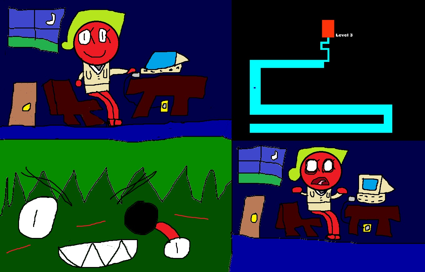 Scanty Plays Scary Maze Game