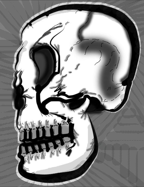 Skull Work (Black and White)