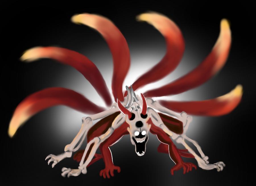 Naruto nine tail rage fan art (speed Paint)