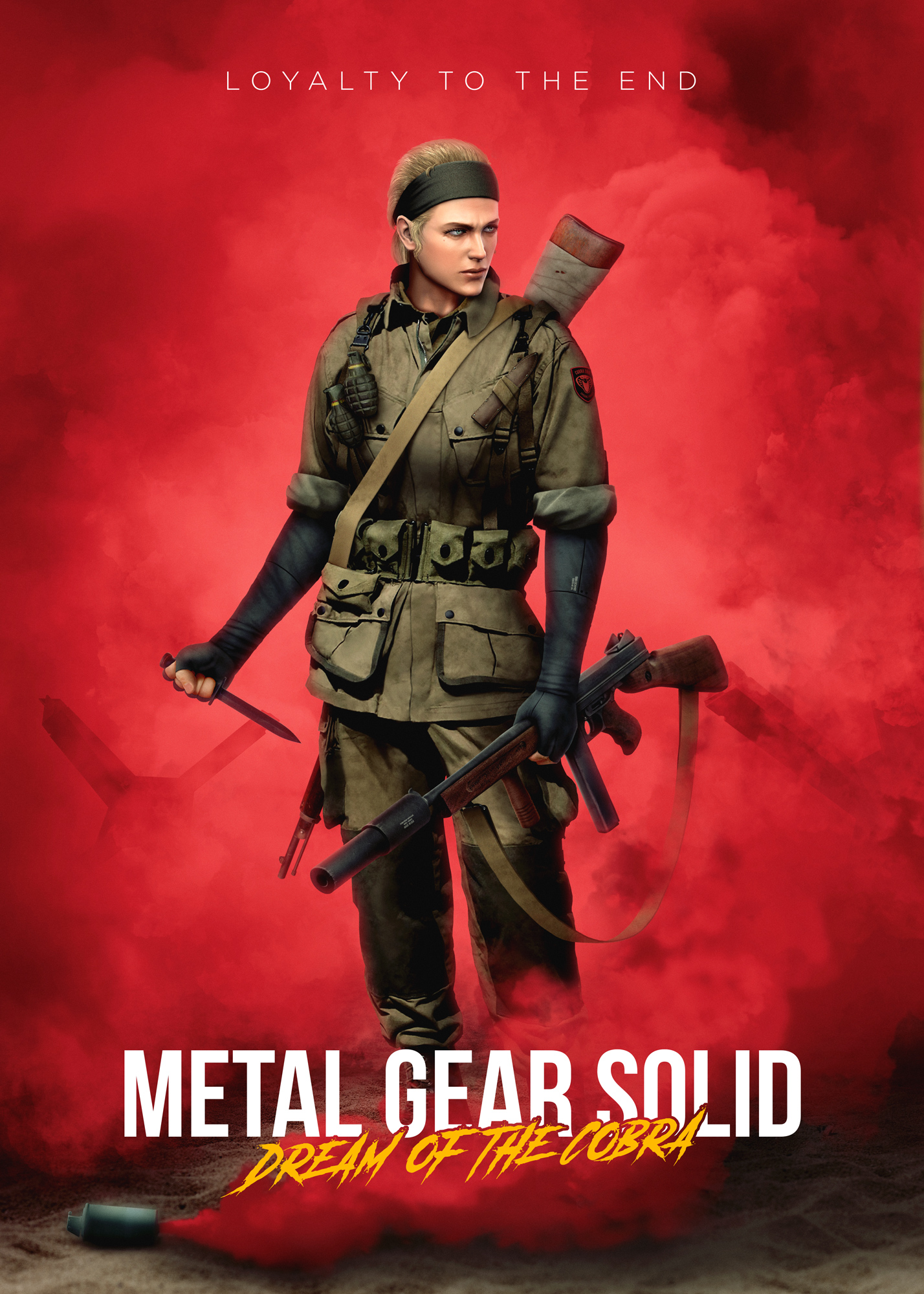 Fake MGS5 WW2 game poster.