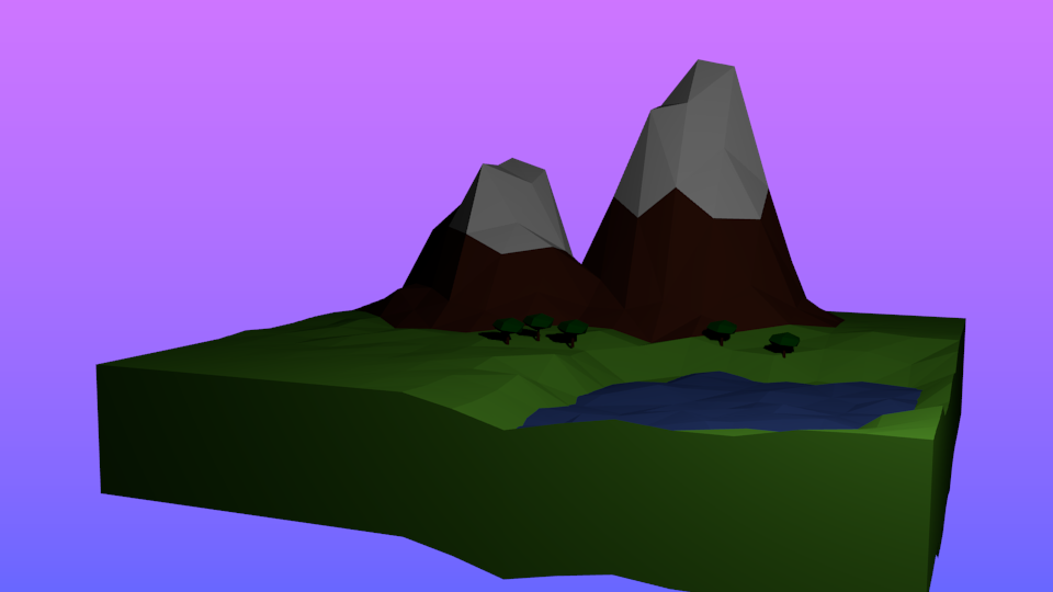 my first low poly scene