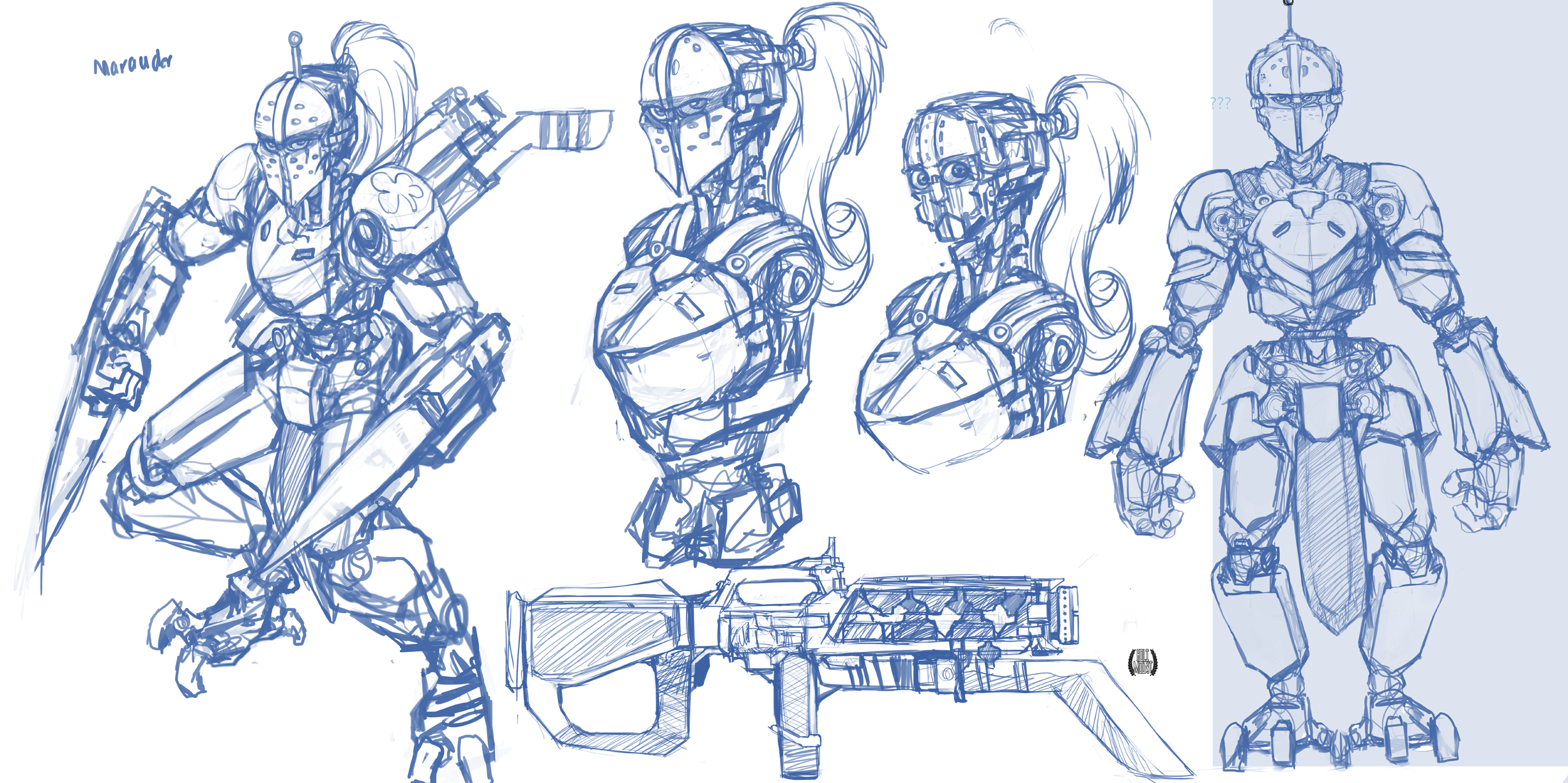Boston Knight sketches