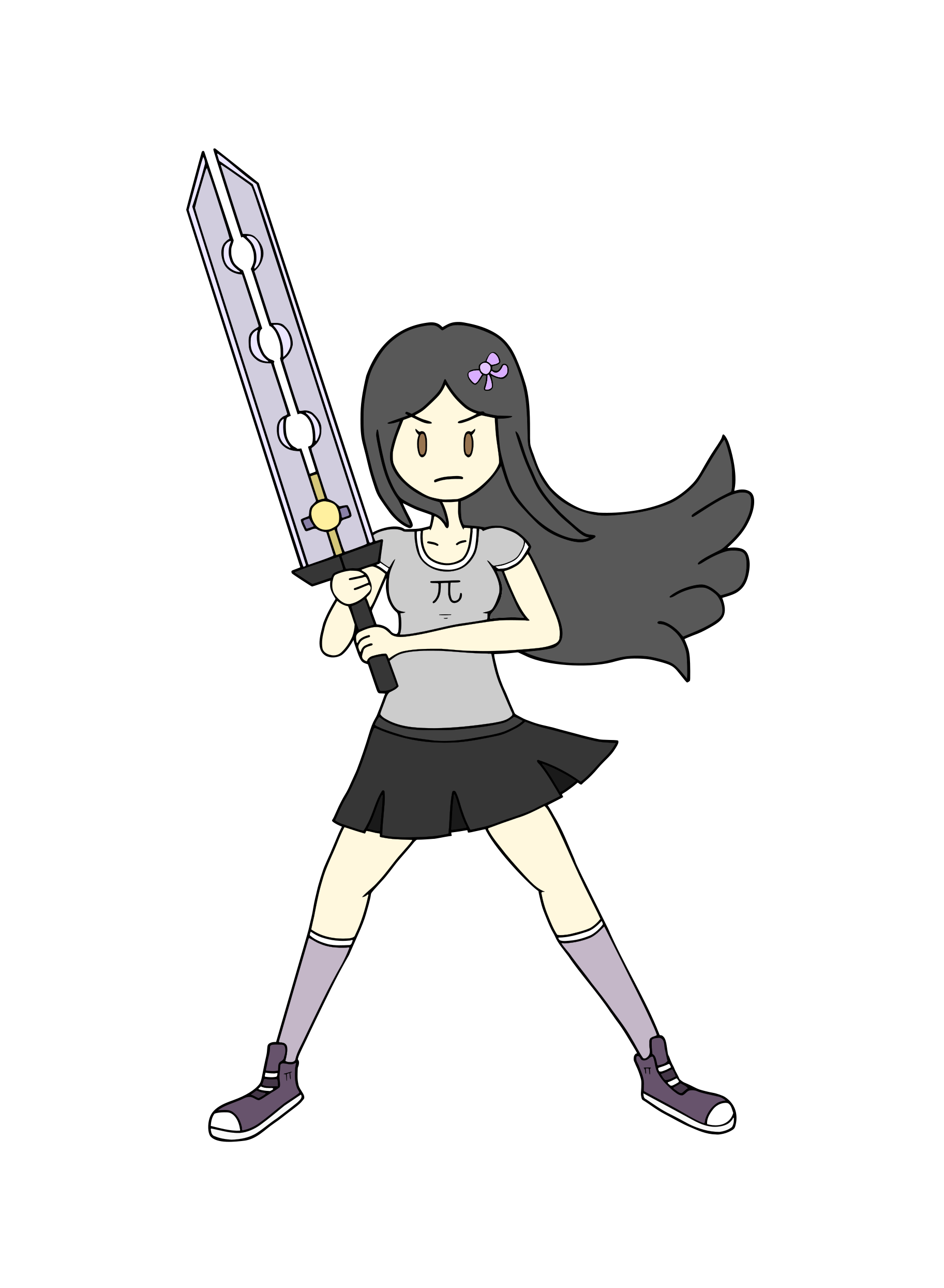Pi Stands with Her Sword [Team Pi]