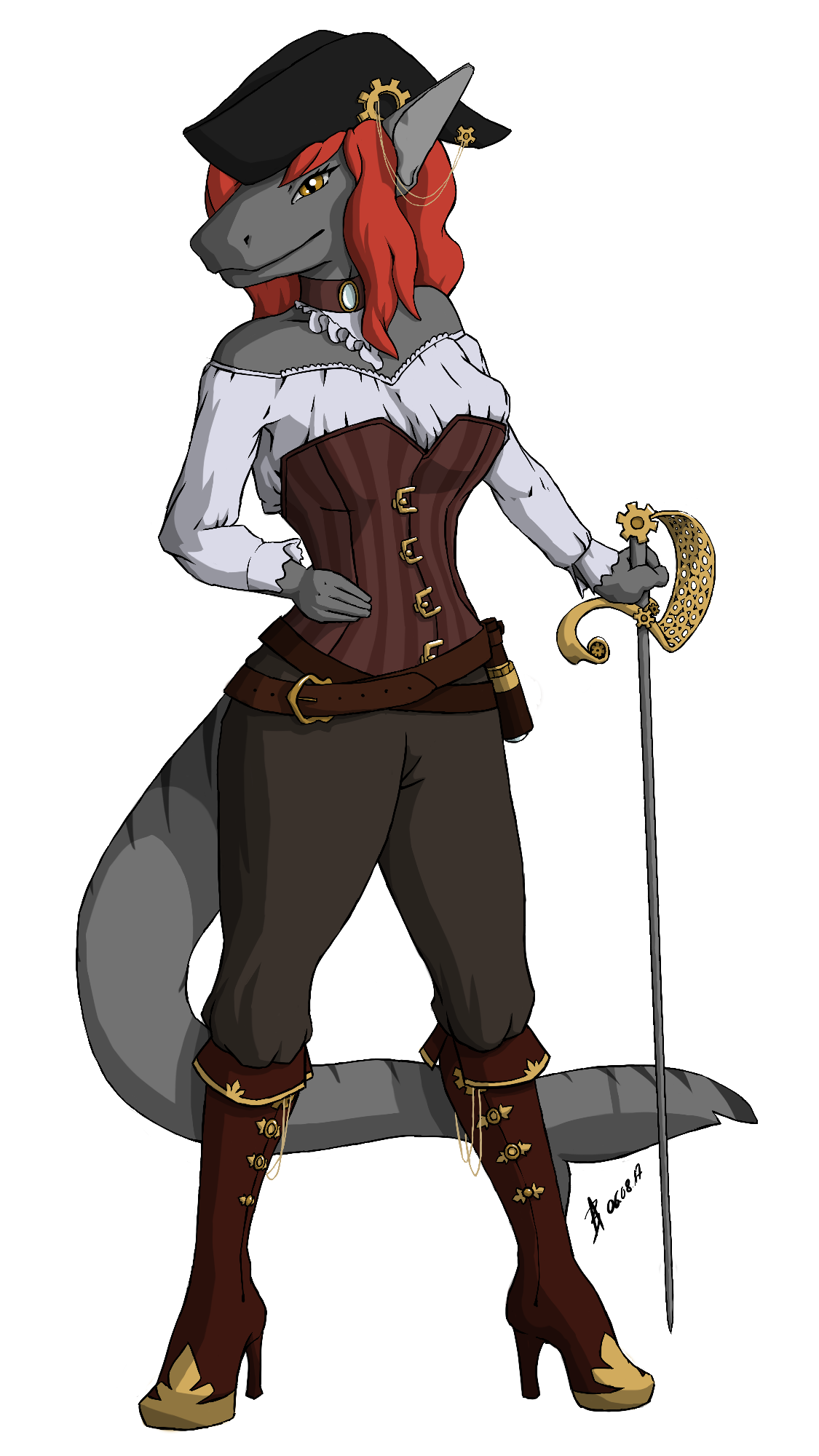 Commission: Steampunk Pirate