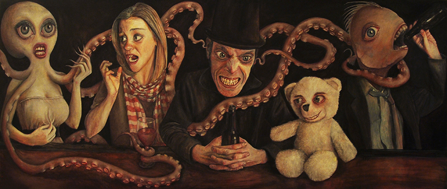"""""""The Waiting Room"""" (part 3) - oil on canvas 59"""" x 24"""""""