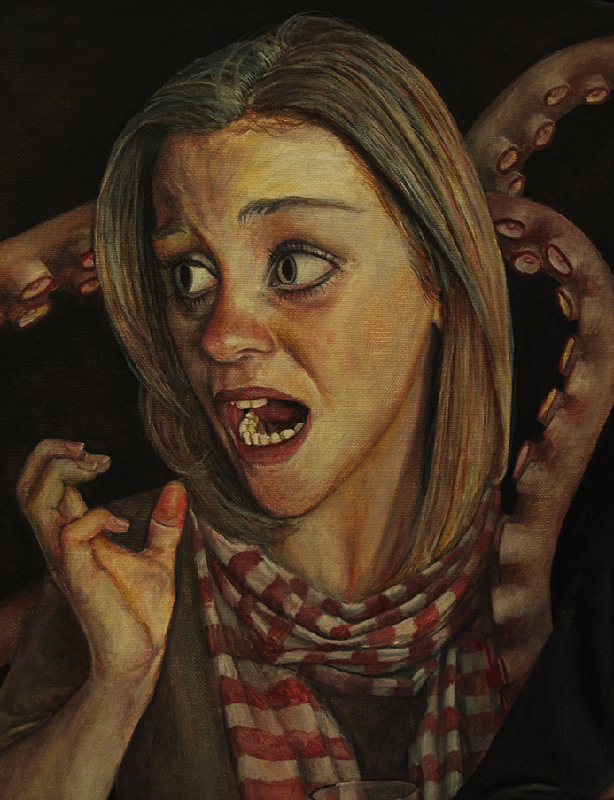 Detail of 'The Waiting Room (Part 3) - Oil on Canvas