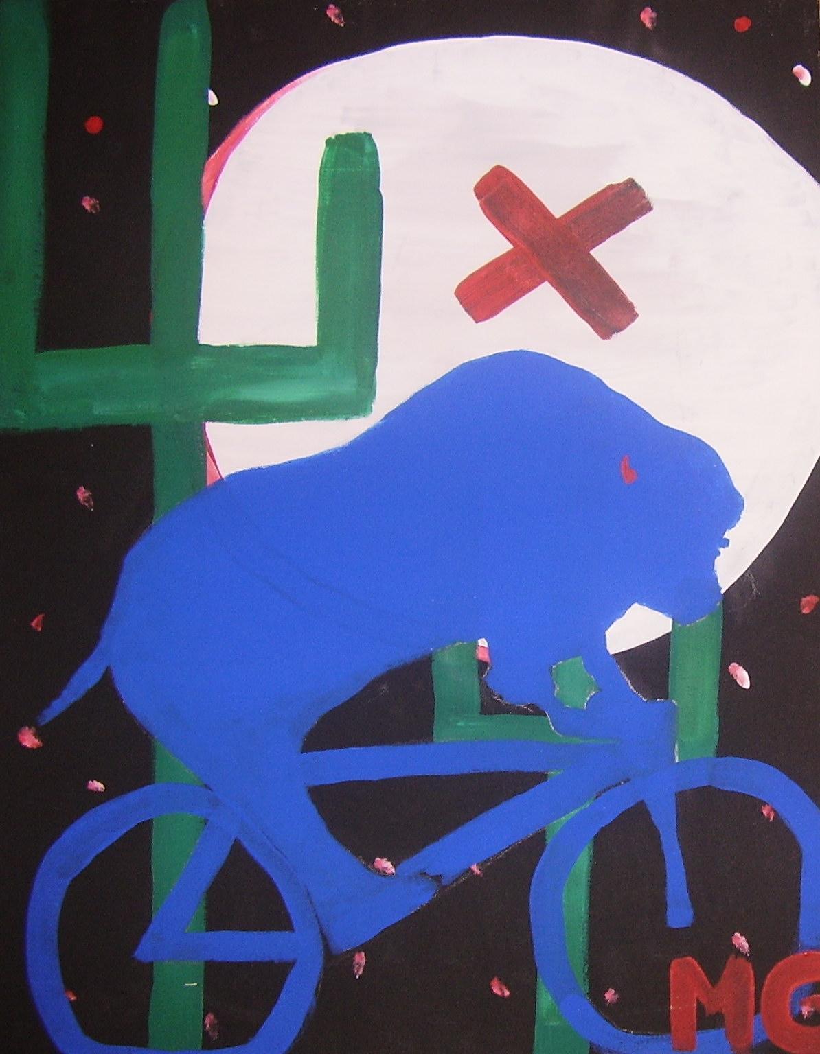 Bull riding bike