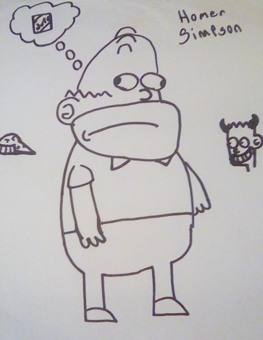 Homer Simpson Doodle