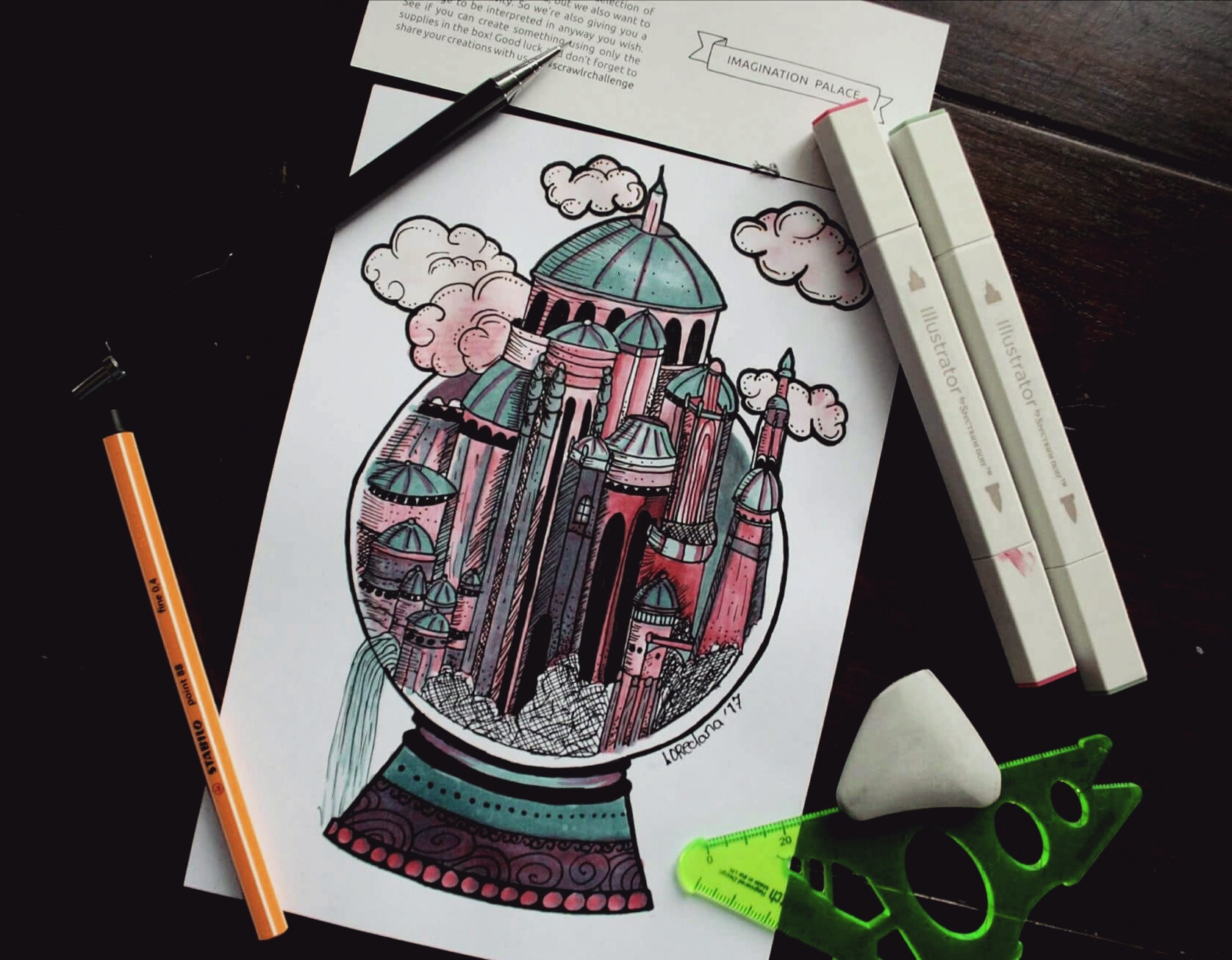 Scrawlrbox challenge August 2017 • Imagination Palace•