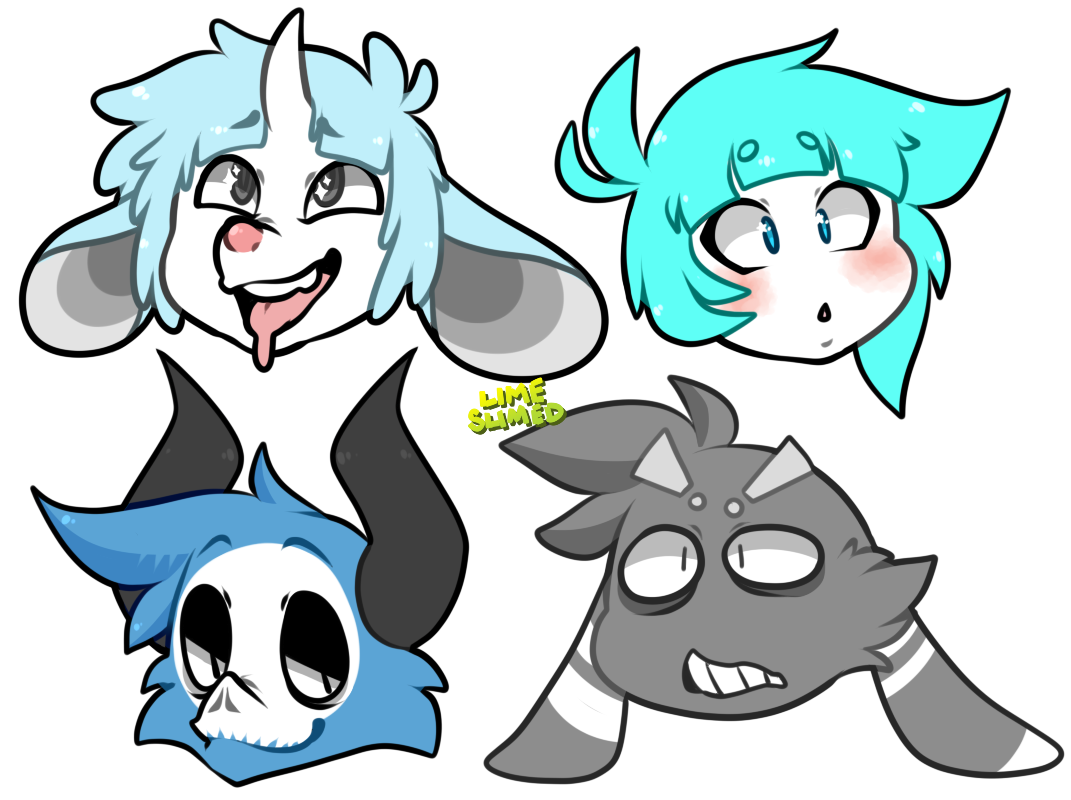 just some heads