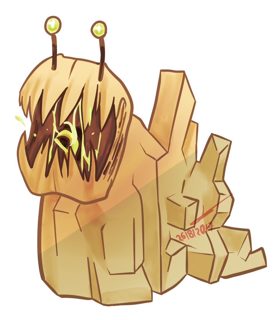Mutant rock slug.