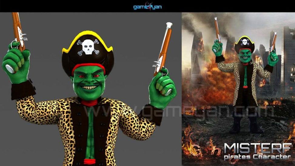3D Misterf Pirates Character Modelling USA, Boston