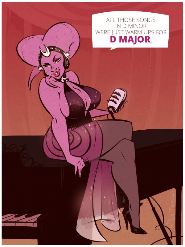 Lenura Fenn - D Major - Cartoon PinUp Commission