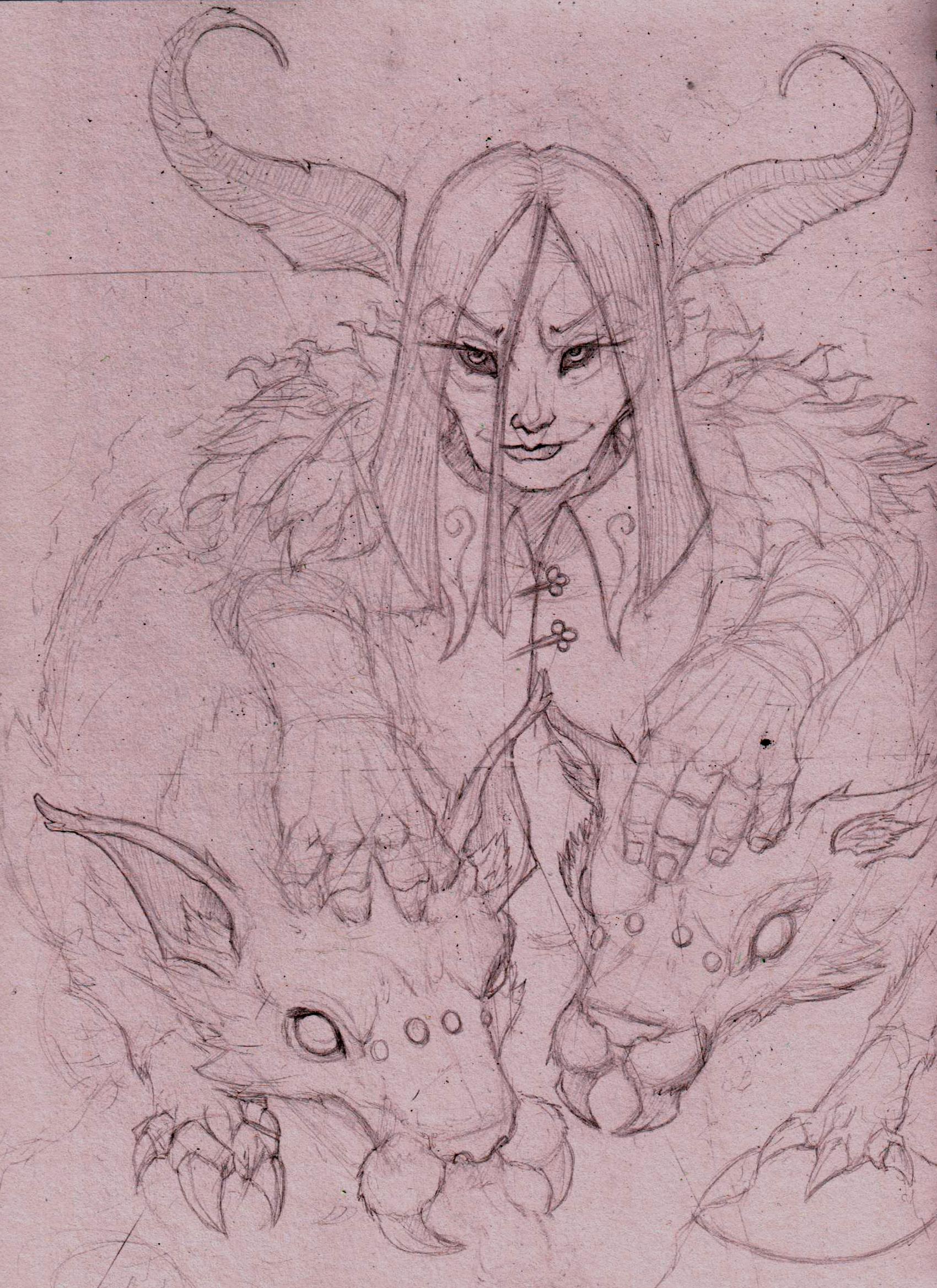 unseelie huntsman sketch
