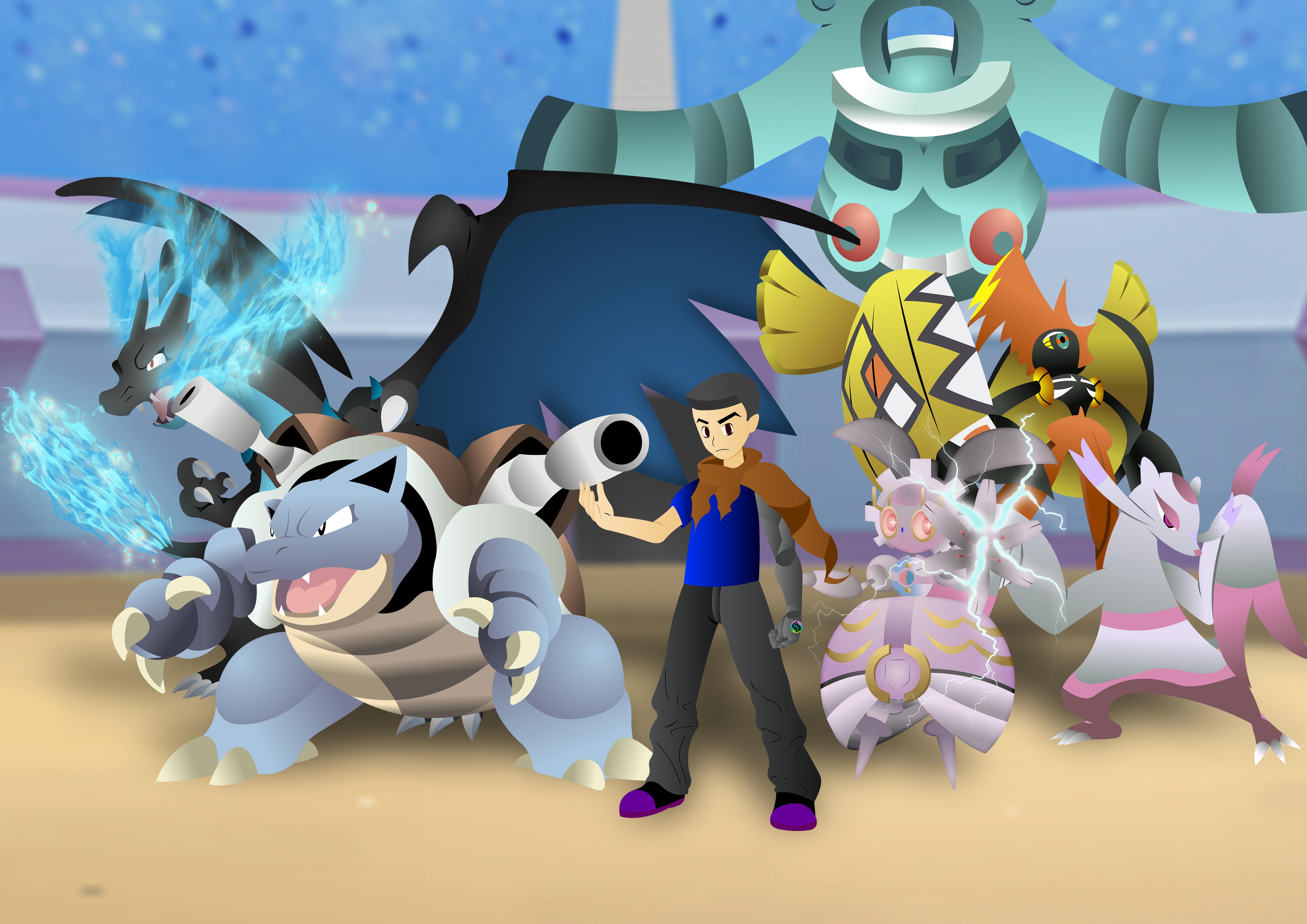 My Mega Charizard X Team