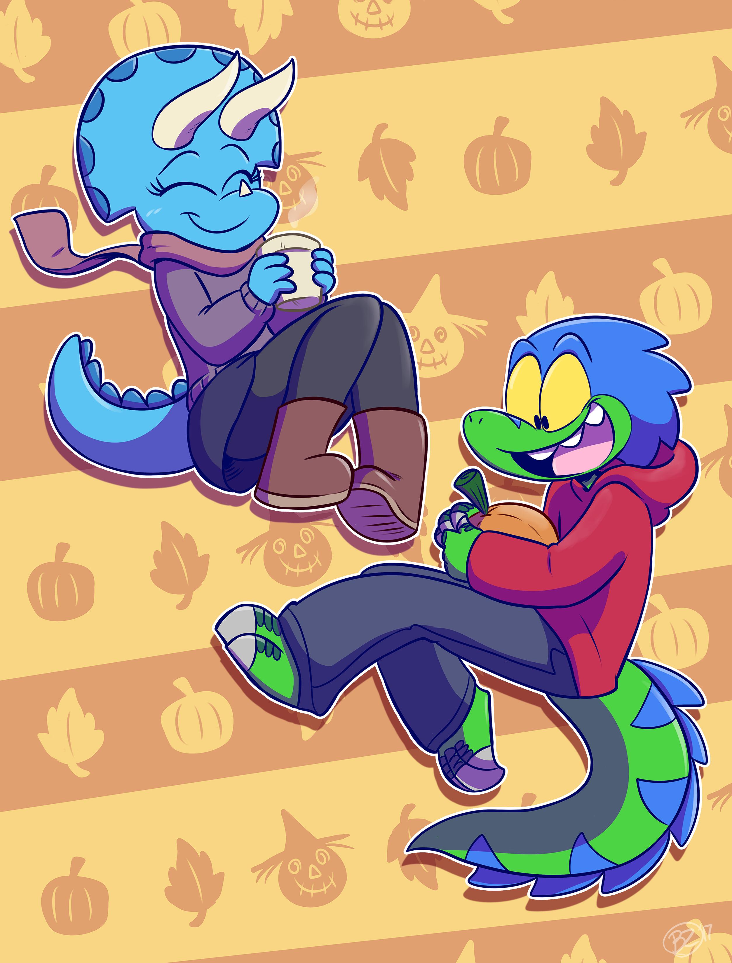 Pumpkin Spice Dinos