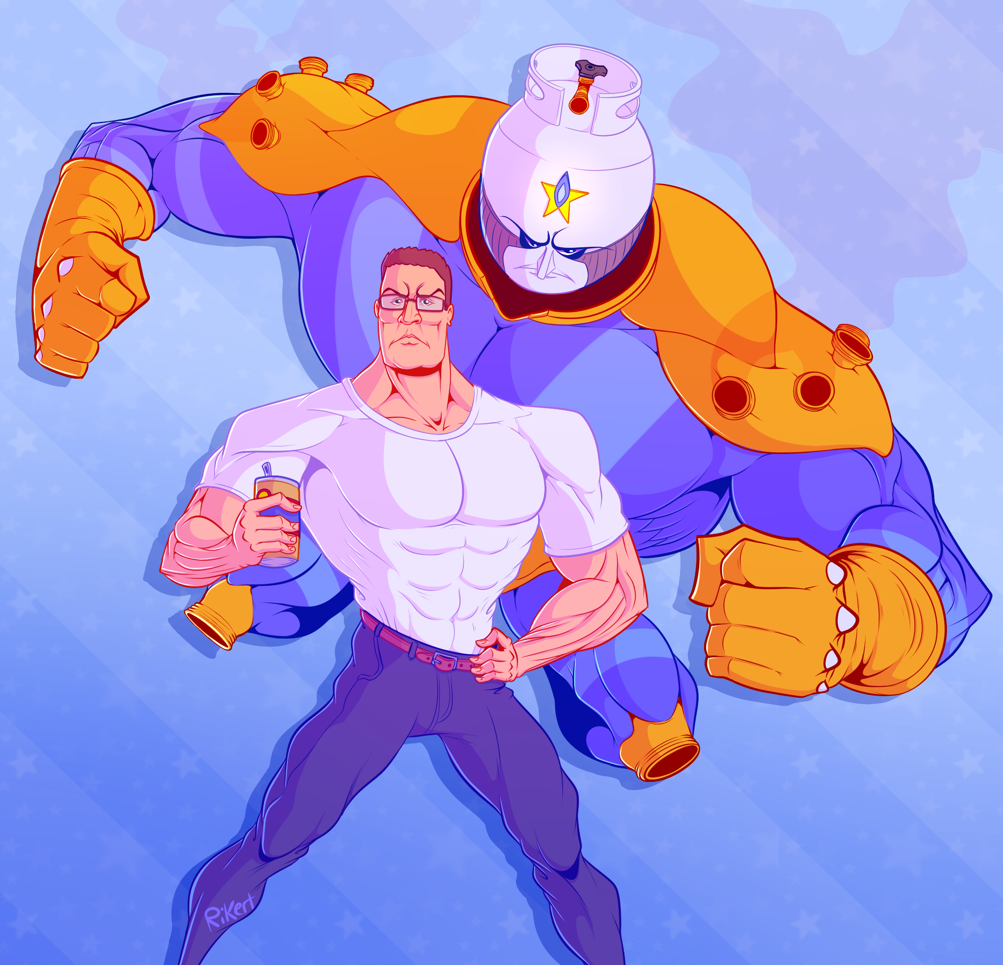 King of the Hill x Jojo's Bizarre Adventure