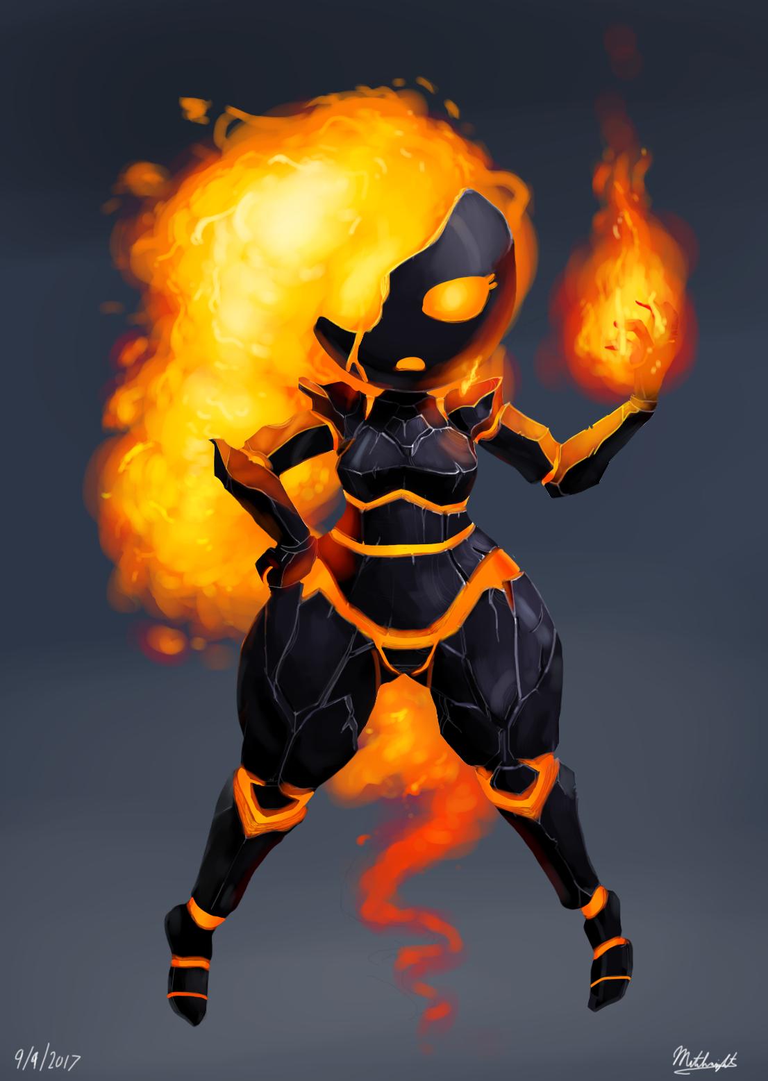 Lava Girl By Mataknight On Newgrounds-5563