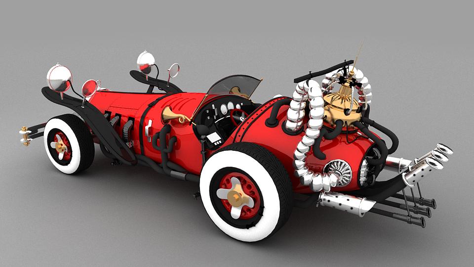 V20 Classic vintage stylish yet Elegant Car modeling
