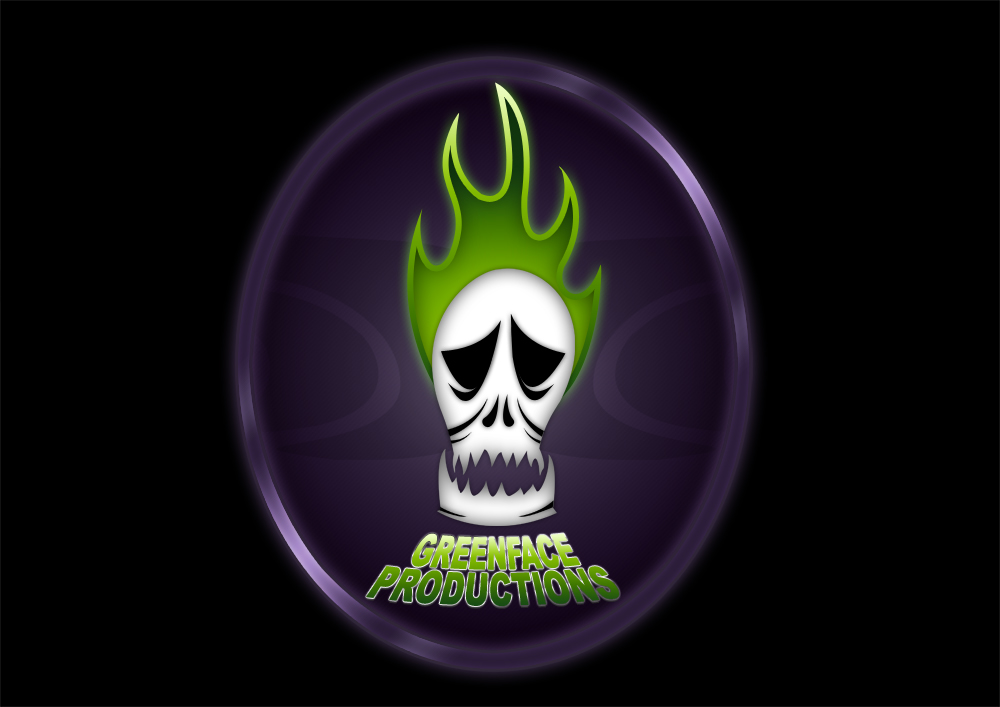 """Logo """"Greenface Productions"""""""