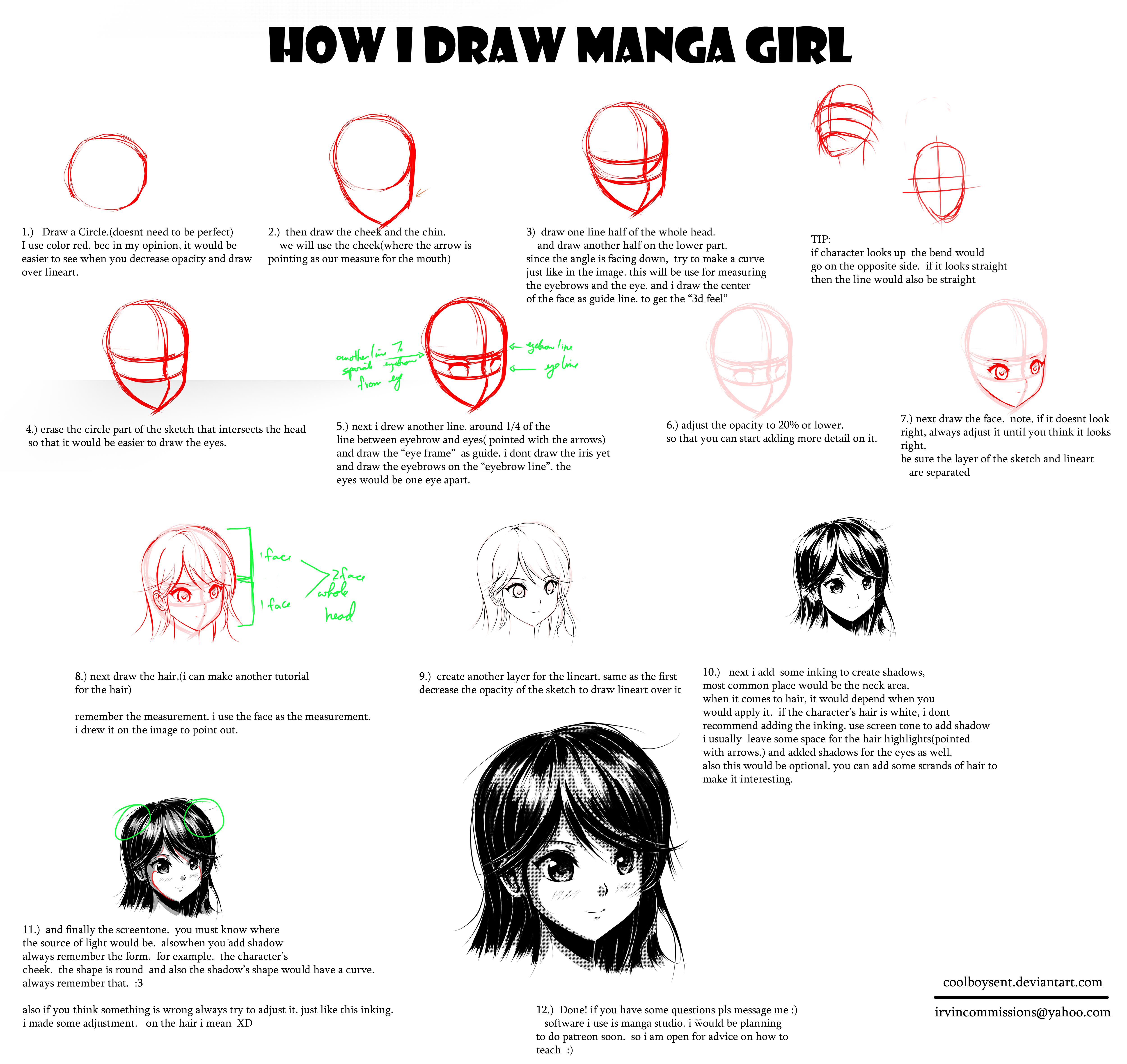 HOW I DRAW MANGA GIRL