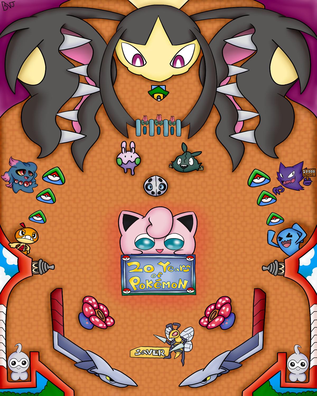 Pokemon 20th anniversary pinball board
