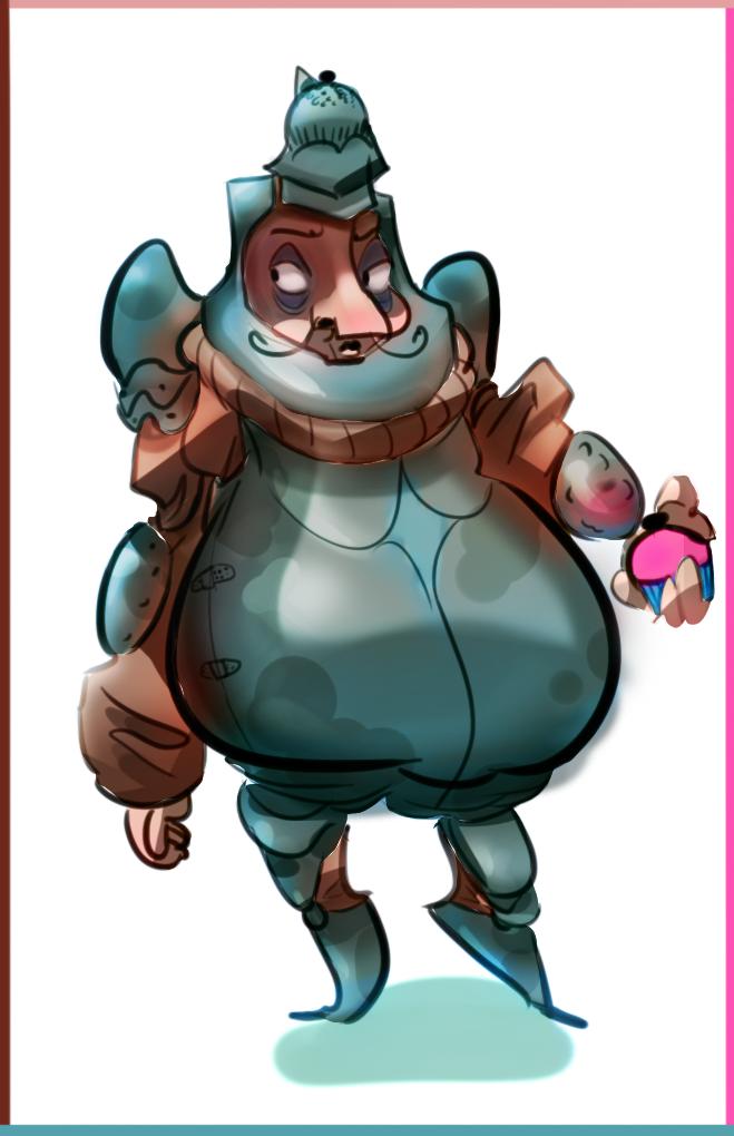 cupcake knight guy