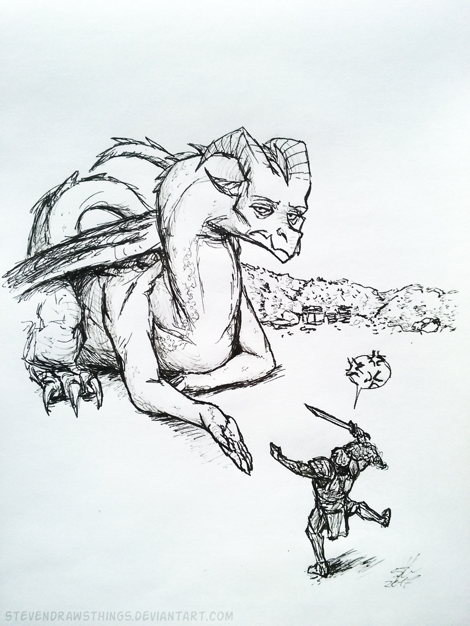 Inktober 2017 - Day 14: Life of a dragon