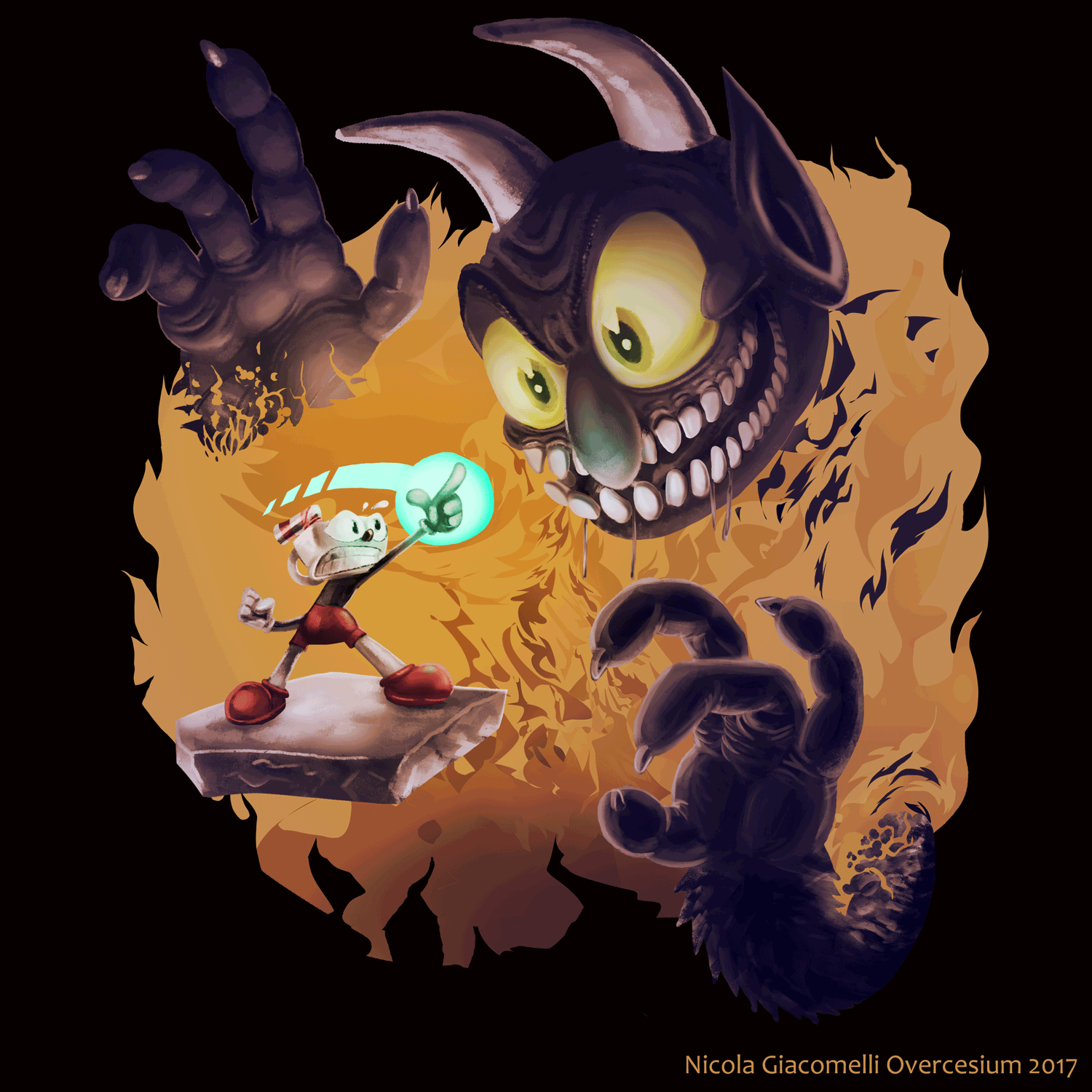Actually Cool Cuphead Art
