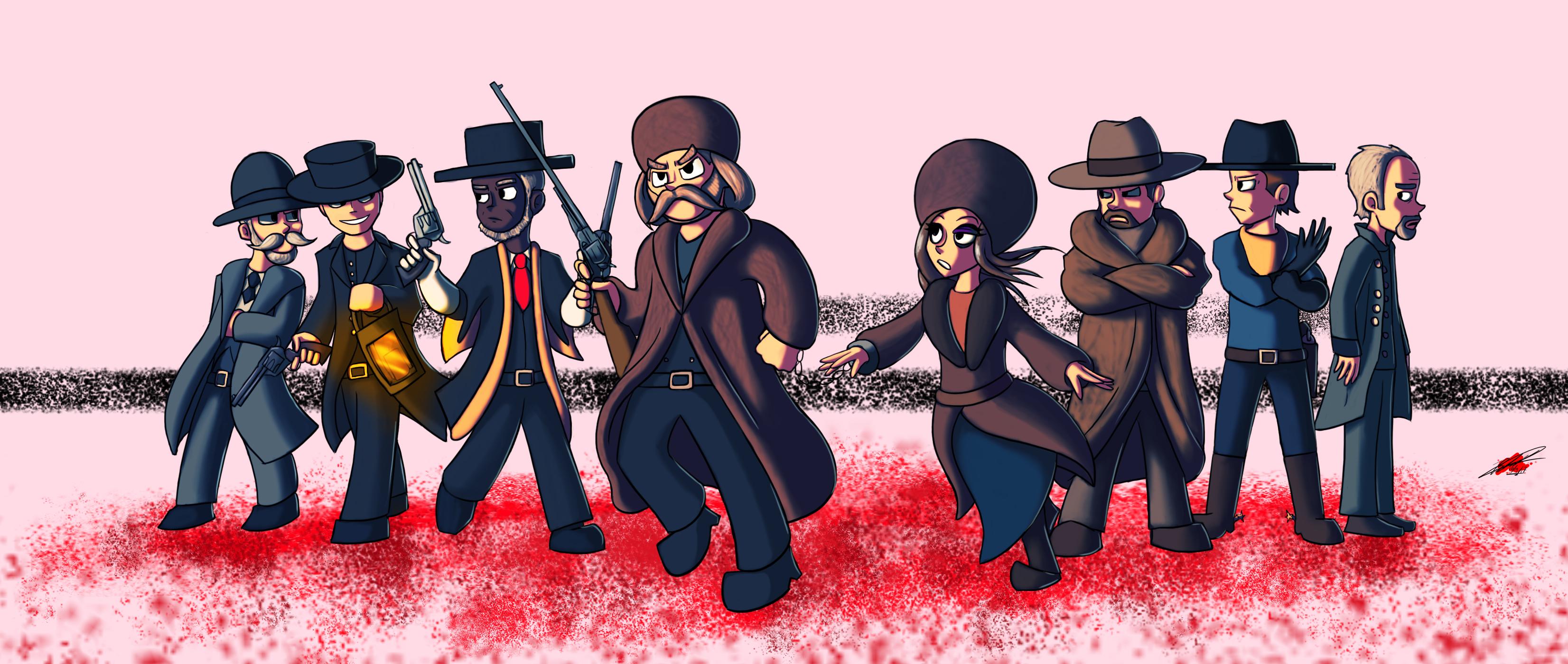 The Hateful Eight Cartoony